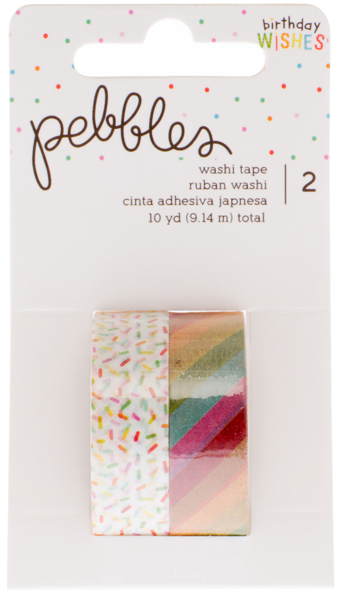 ^Pebbles Washi Tape Birthday Wishes (CLEARANCE)
