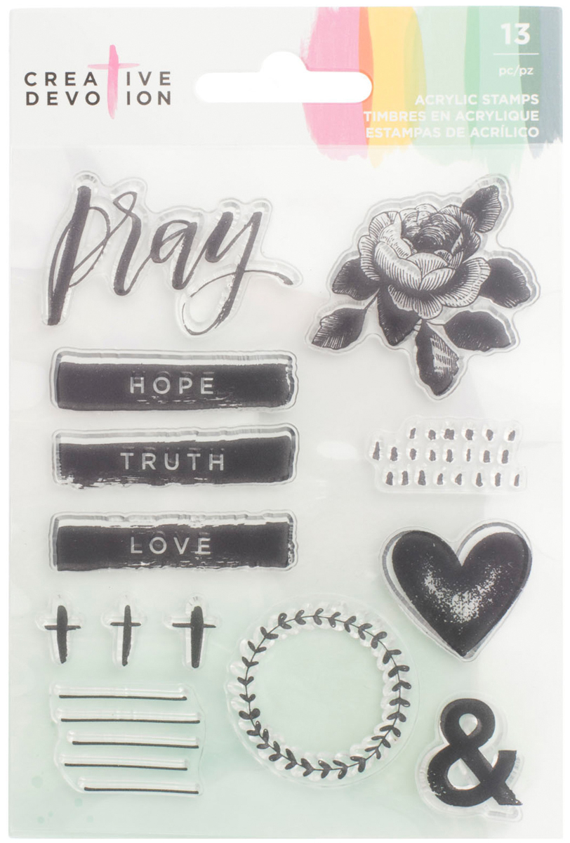 Creative Devotion Clear Acrylic Stamps 4X6-Pray