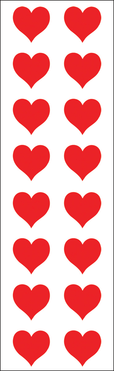 RED HEART STICKERS - MRS GROSSMAN'S