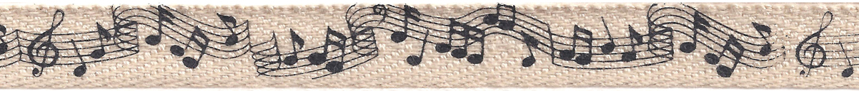 Creative Impressions Printed Twill .5X25yd-Music Notes