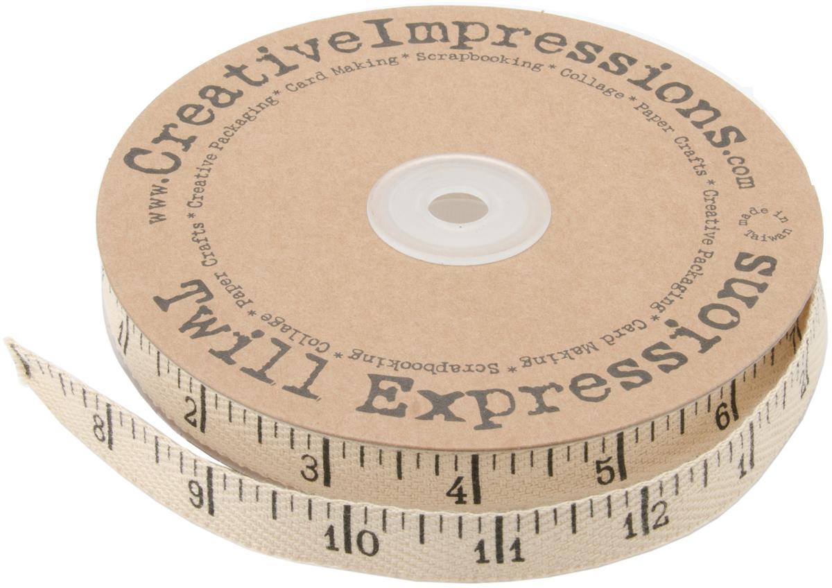 Creative Impressions Printed Twill .5X 1 yd- Antique Ruler