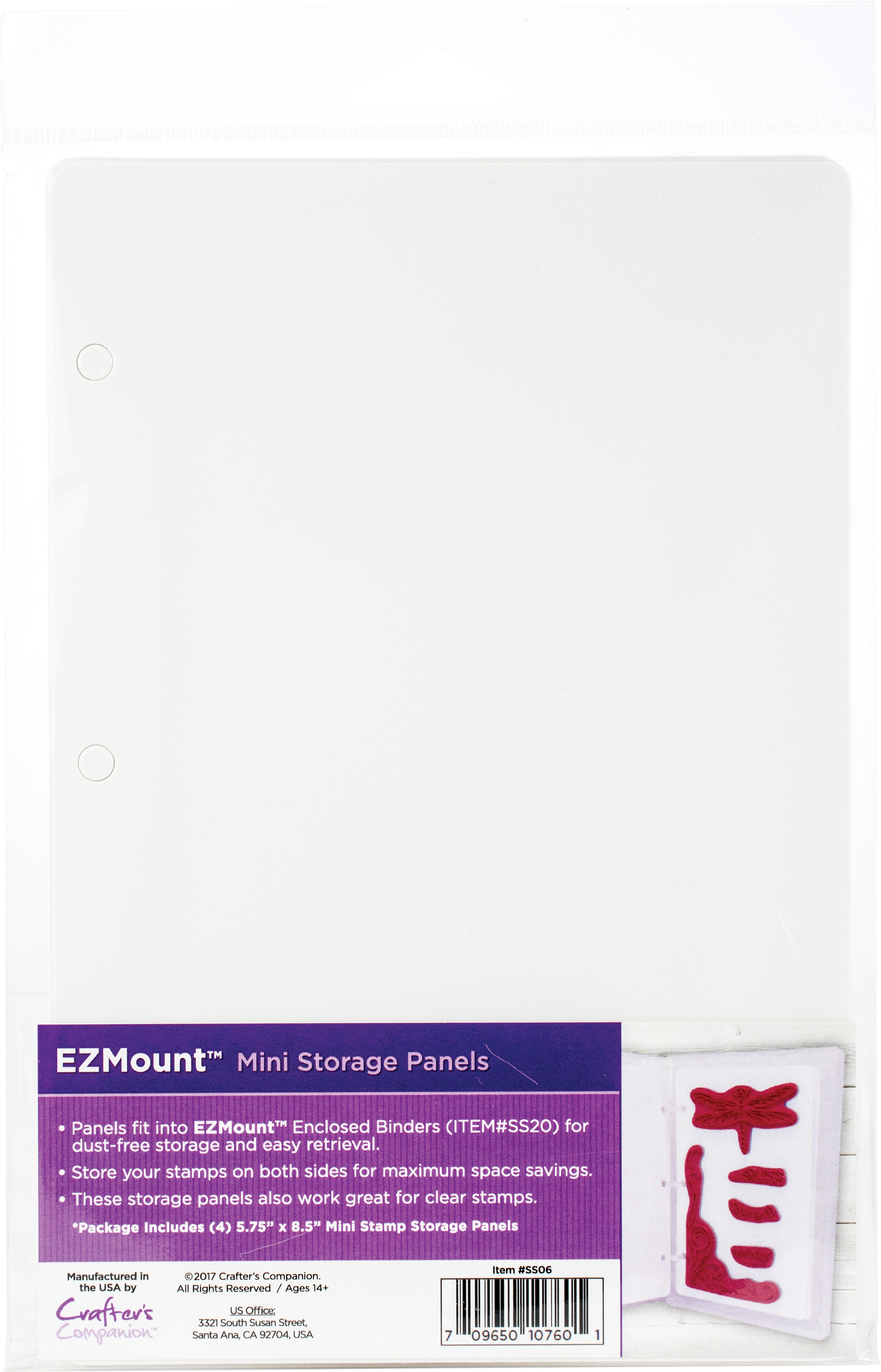 EZMount Stamp Storage Panels 4/Pkg-5.75X8.5