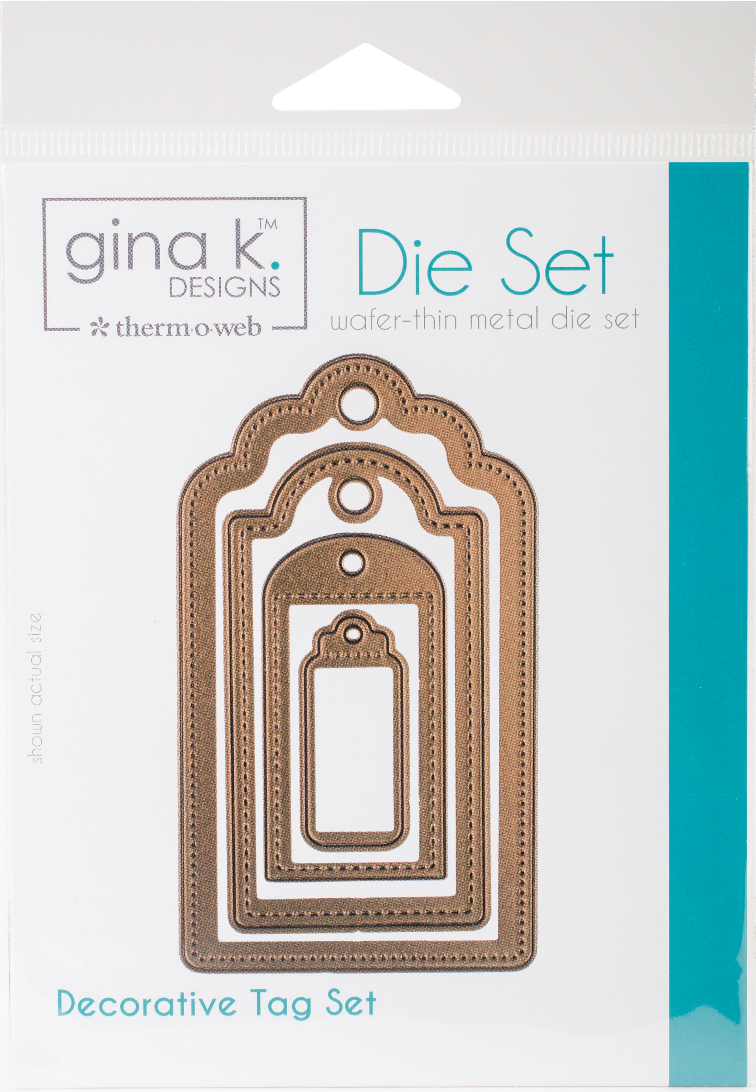 Gina K Designs 4 Nested Decorative Tags Dies-.625 To 4