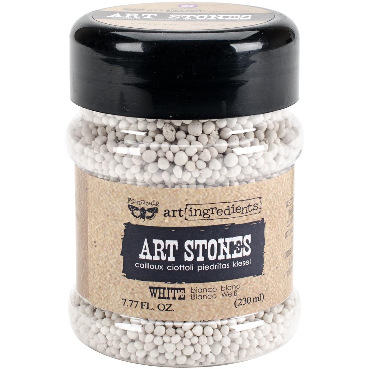 Finnabair Art Ingredients Art Stones 7.77 Ounces-White