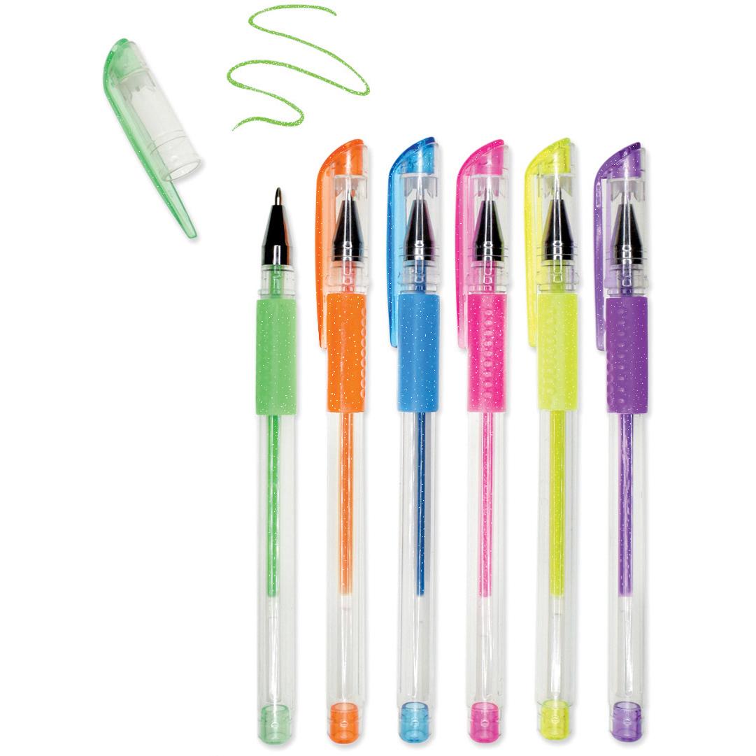 Neon Gel Glitter Pens