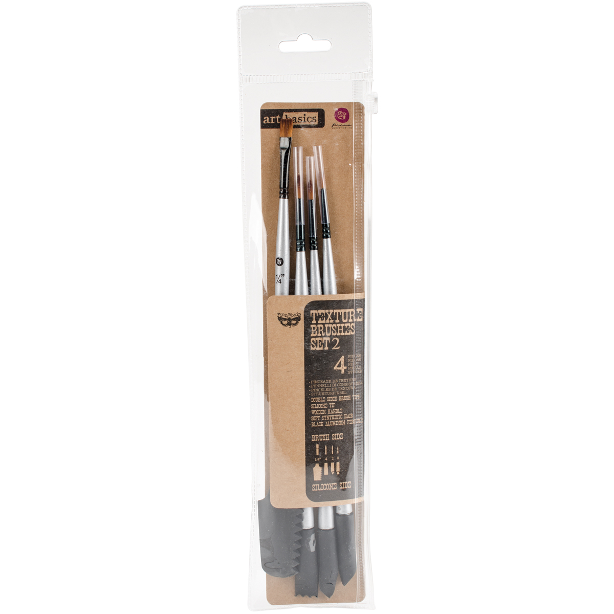 TEXTURE PAINT BRUSHES 4 PCS
