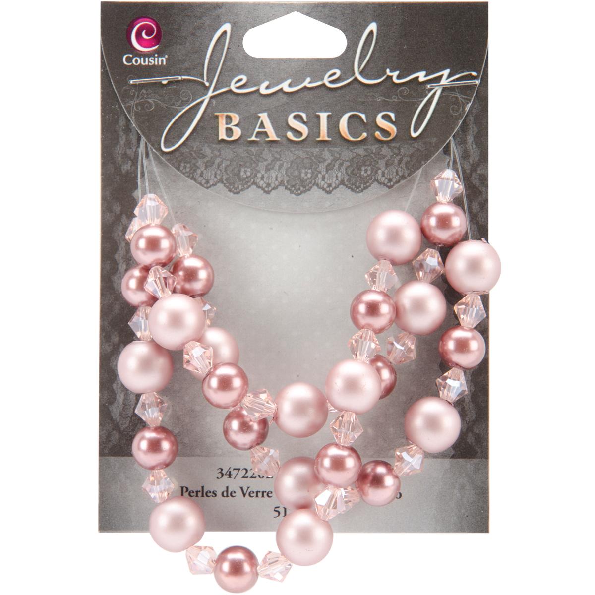 Cousin Jewelry Basics Glass Beads 51pc 8/10mm