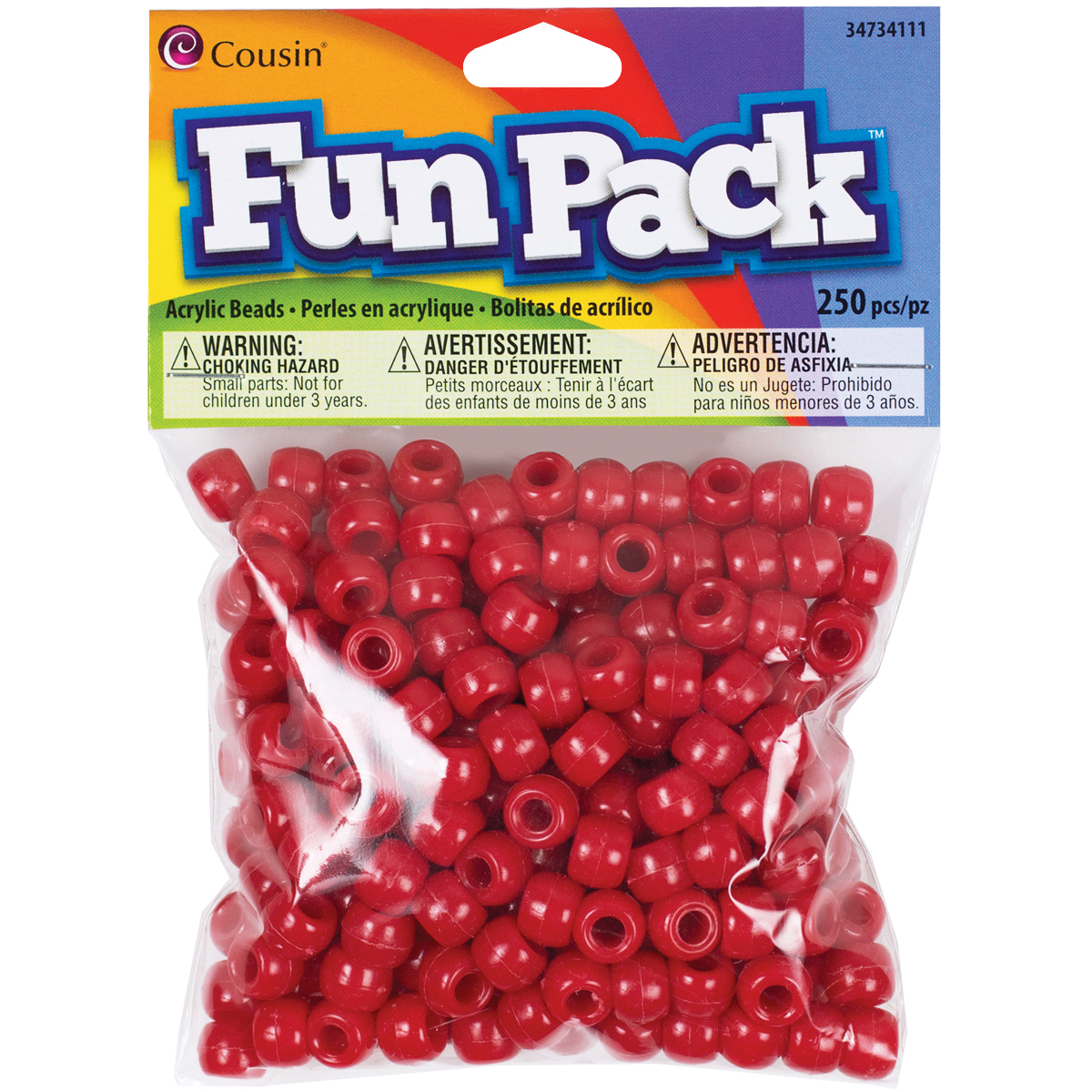 COUSIN PONY BEADS RED