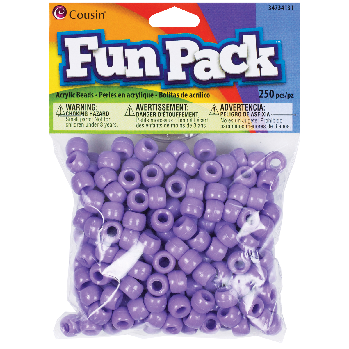 COUSIN PONY BEADS PURPLE