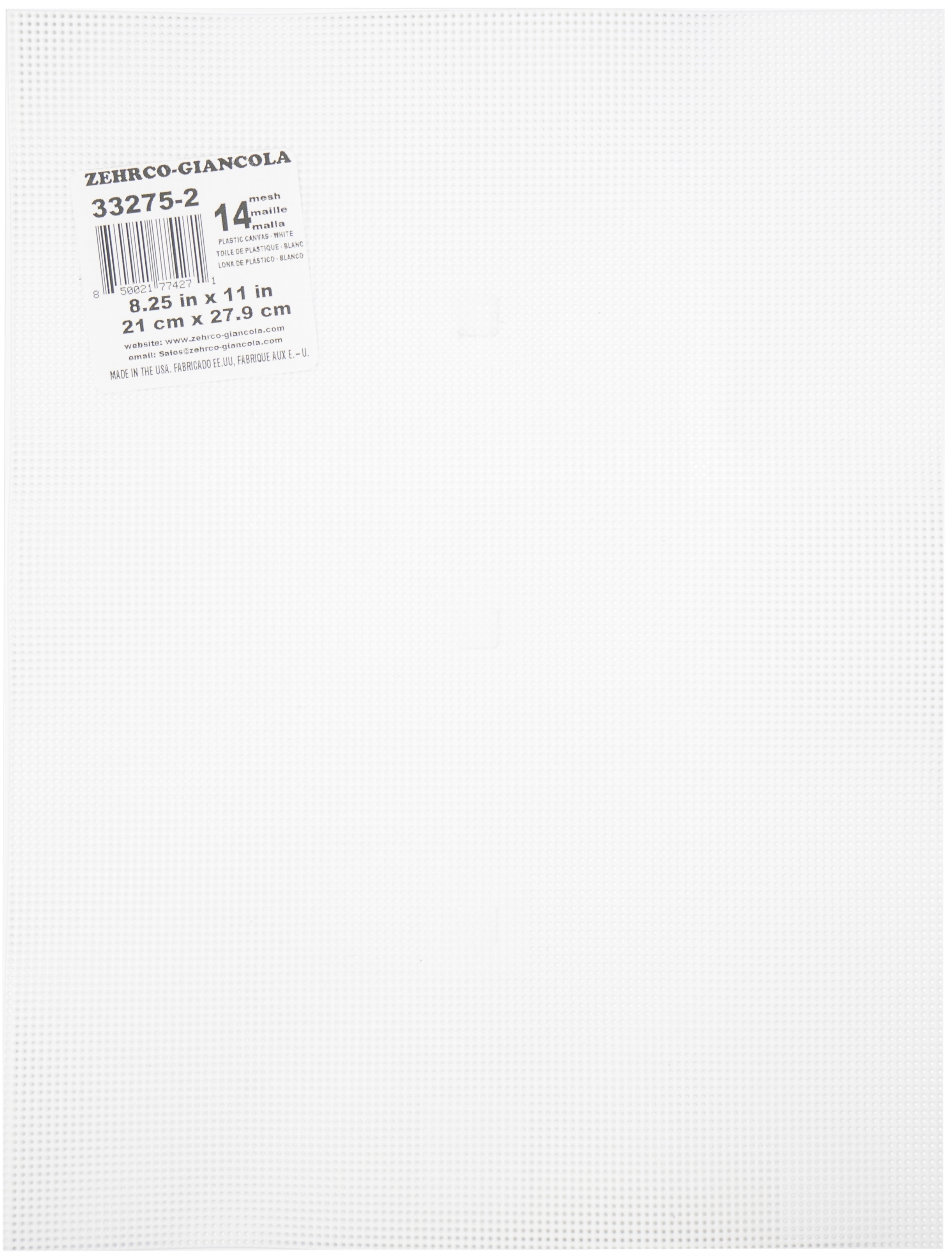 Darice Perforated Plastic Canvas 14 Count 8.5X11-Clear