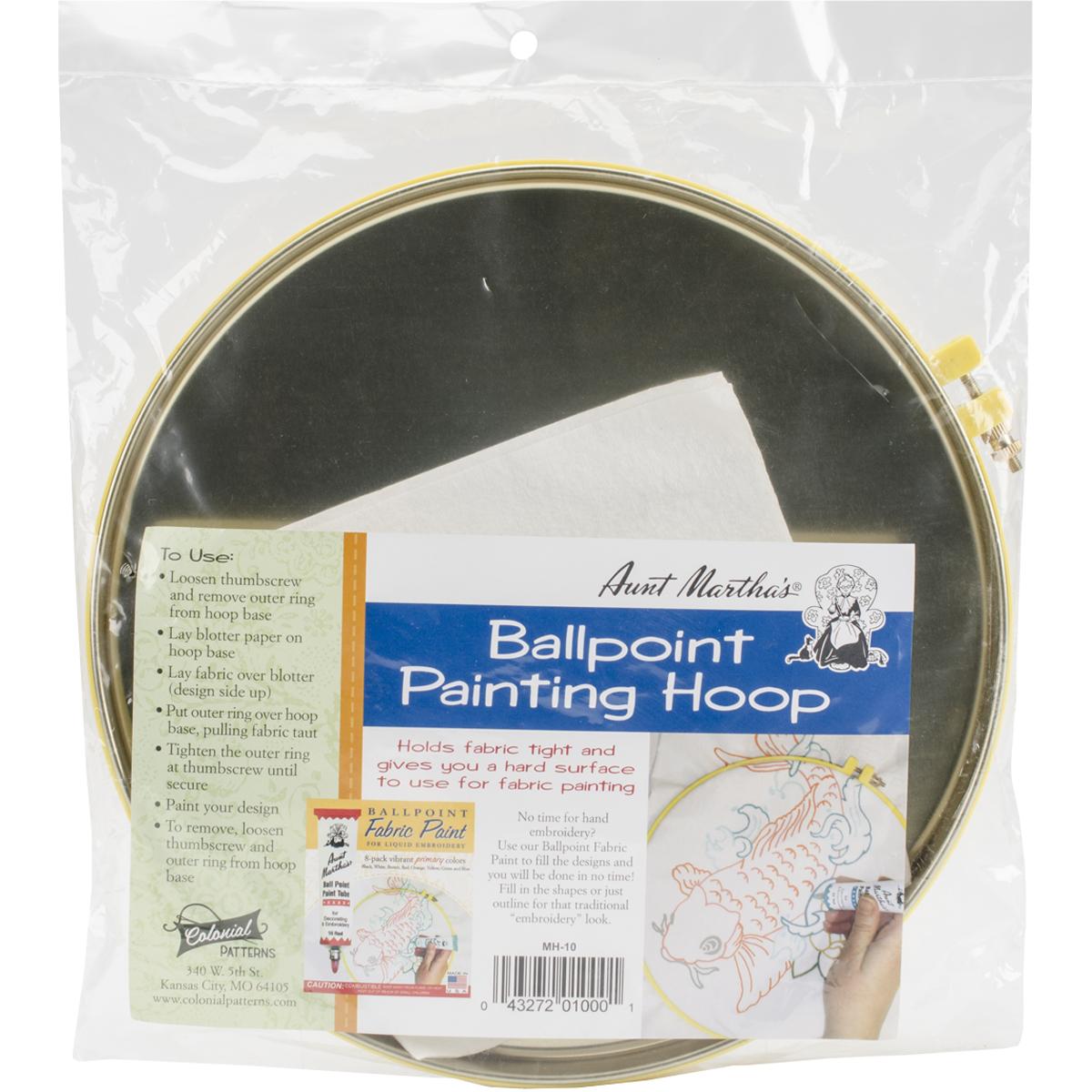 Aunt Martha's Ballpoint Painting Hoop 10-