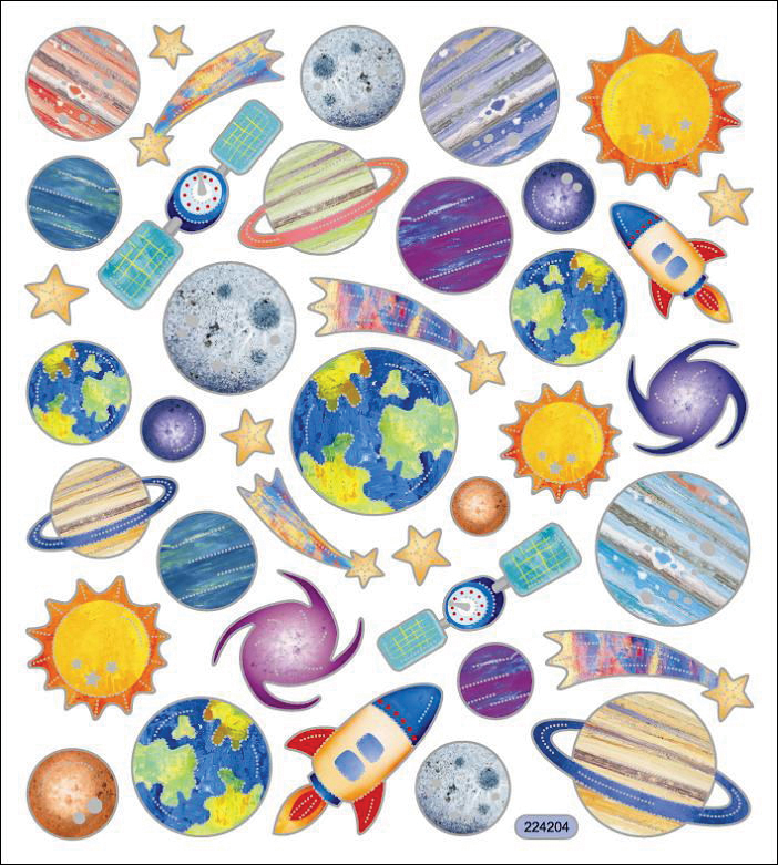 Sticker King Stickers-Planets
