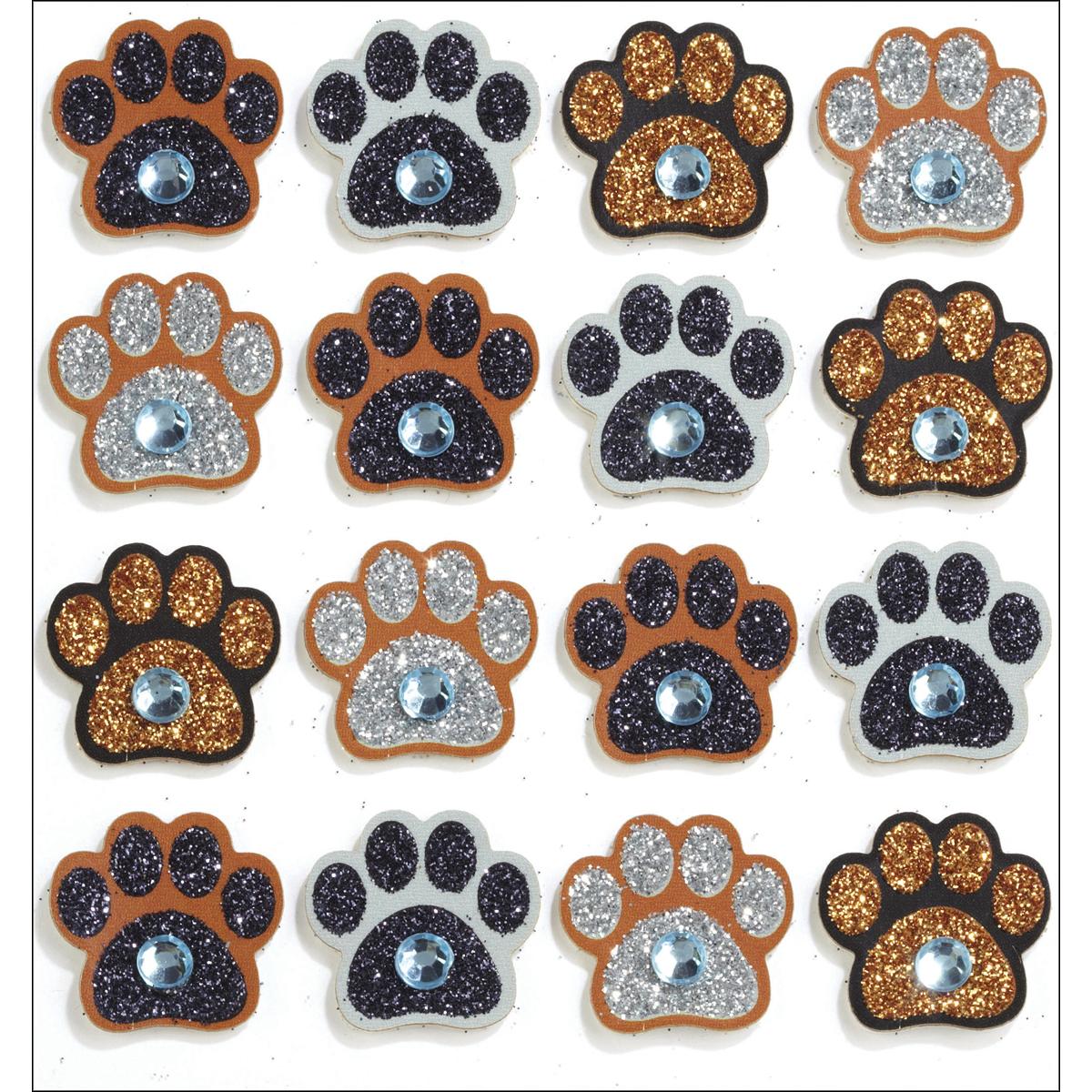 Paw Prints Dimensional Stickers