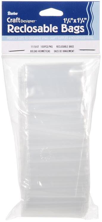 Darice Reclosable Bags 100/Pkg-1.75X1.75 Clear