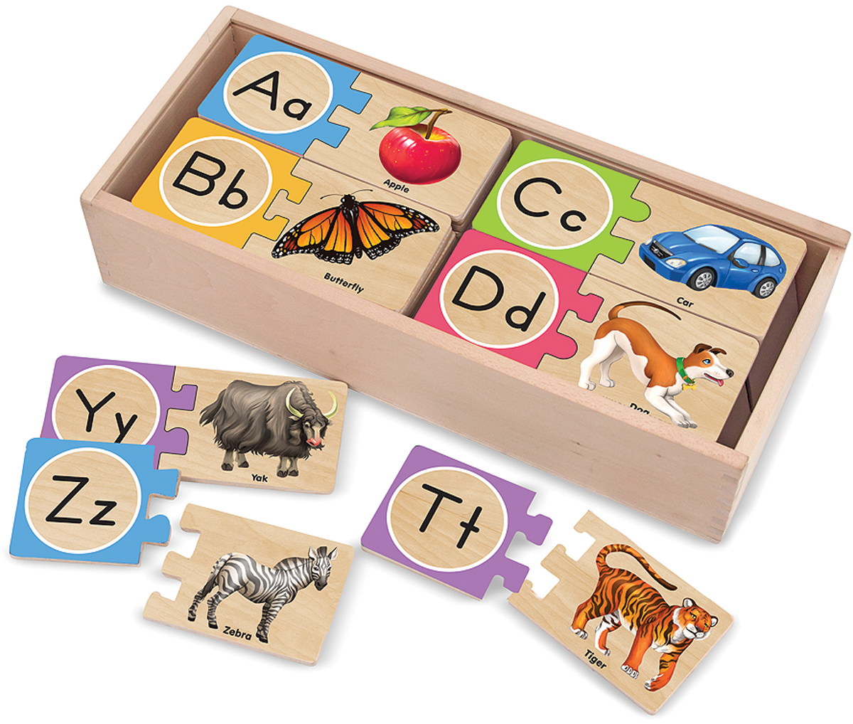 Self-Correcting Letter Jigsaw Puzzles-