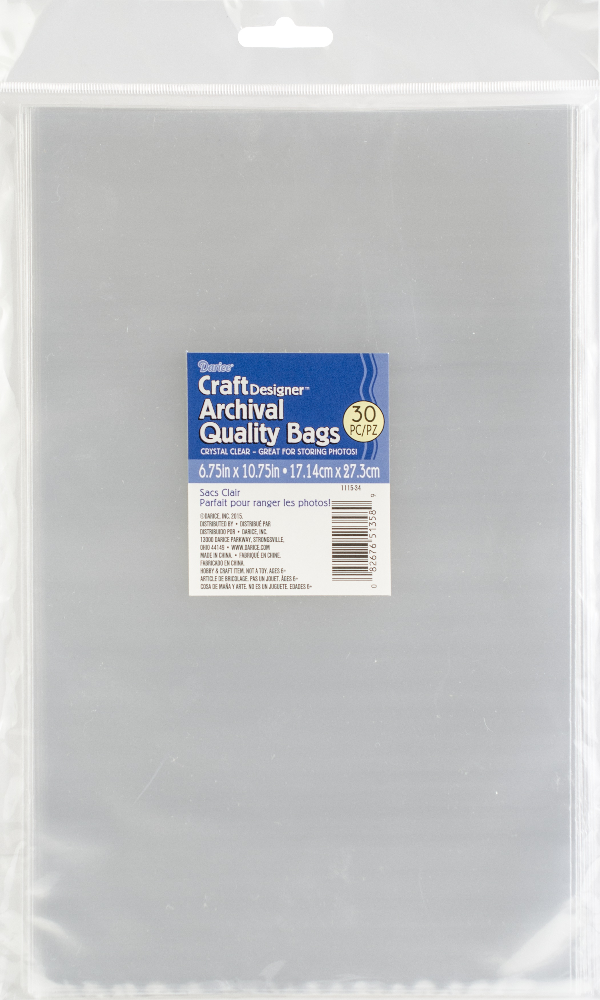 6.75x10.75 CLEAR BAGS