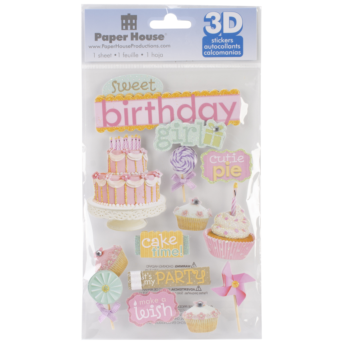 BDAY GIRL -3D STICKERS