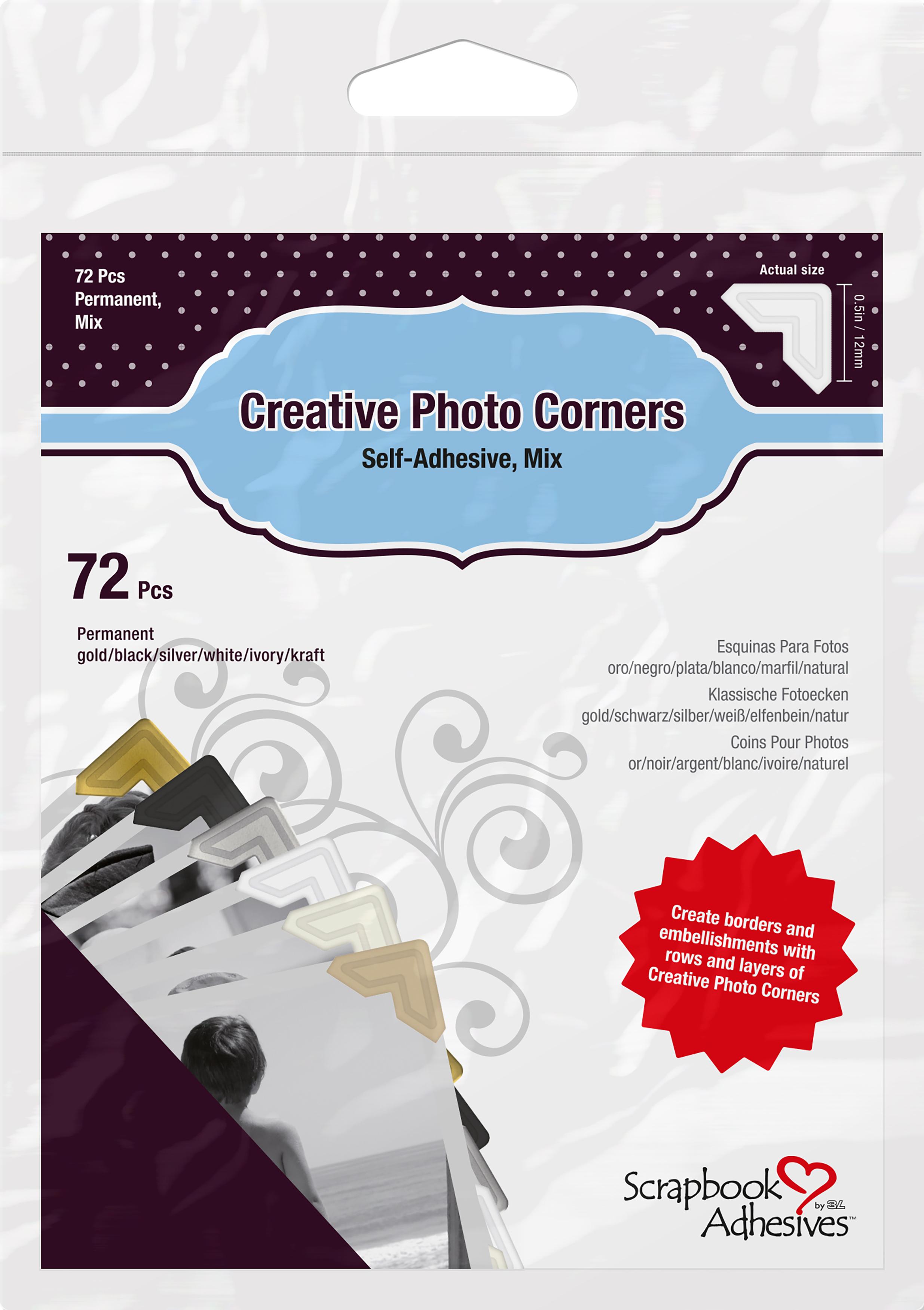 Scrapbook Adhesives Coins pour photos - 72 pi?ces ? Creative Photo Corners