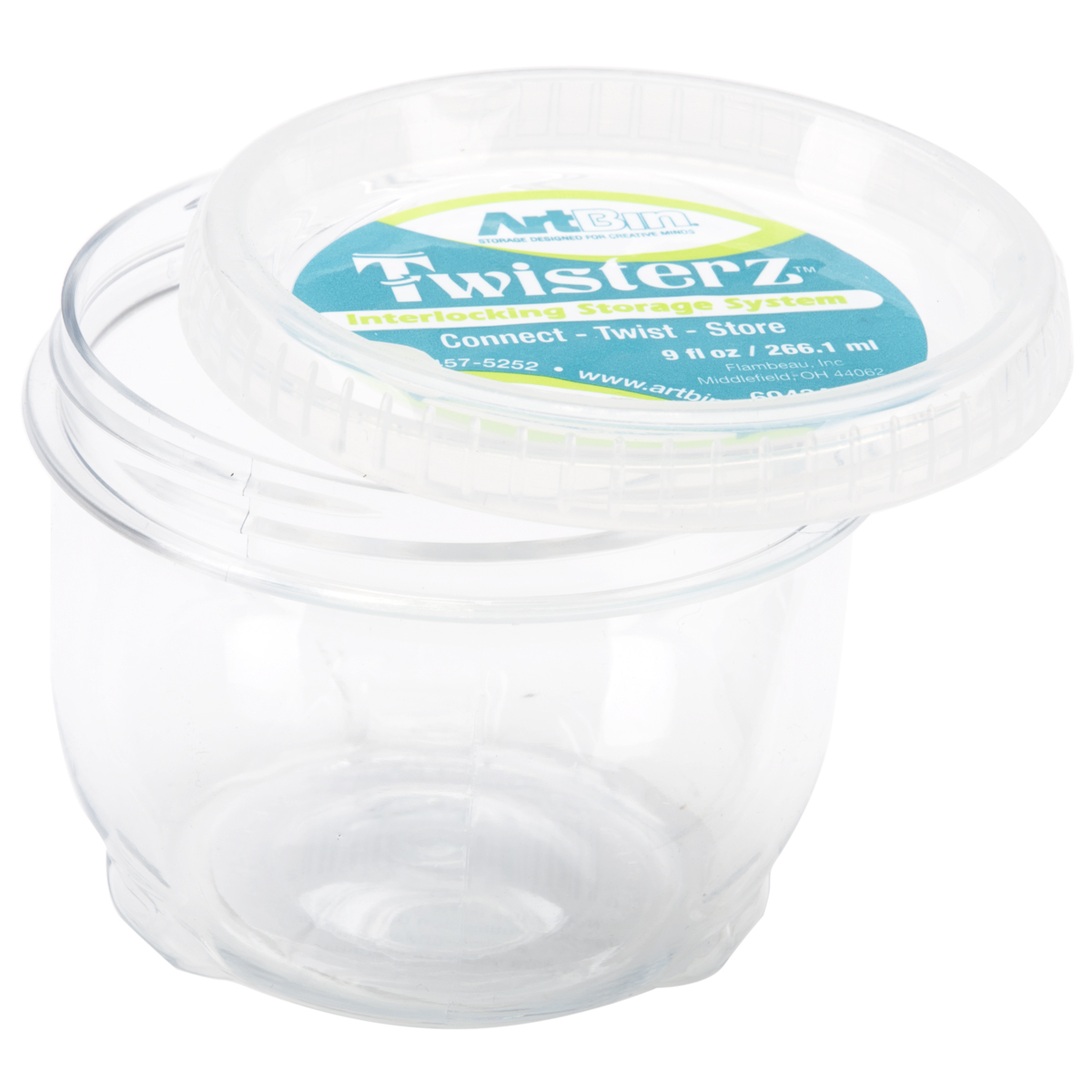 ArtBin Twisterz Jar-Large & Tall 3.5X2.875 (9fl oz)