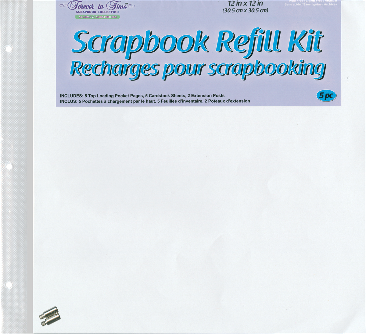 MULTICRAFT / FOREVER IN TIME SCRAPBOOK REFILL KIT