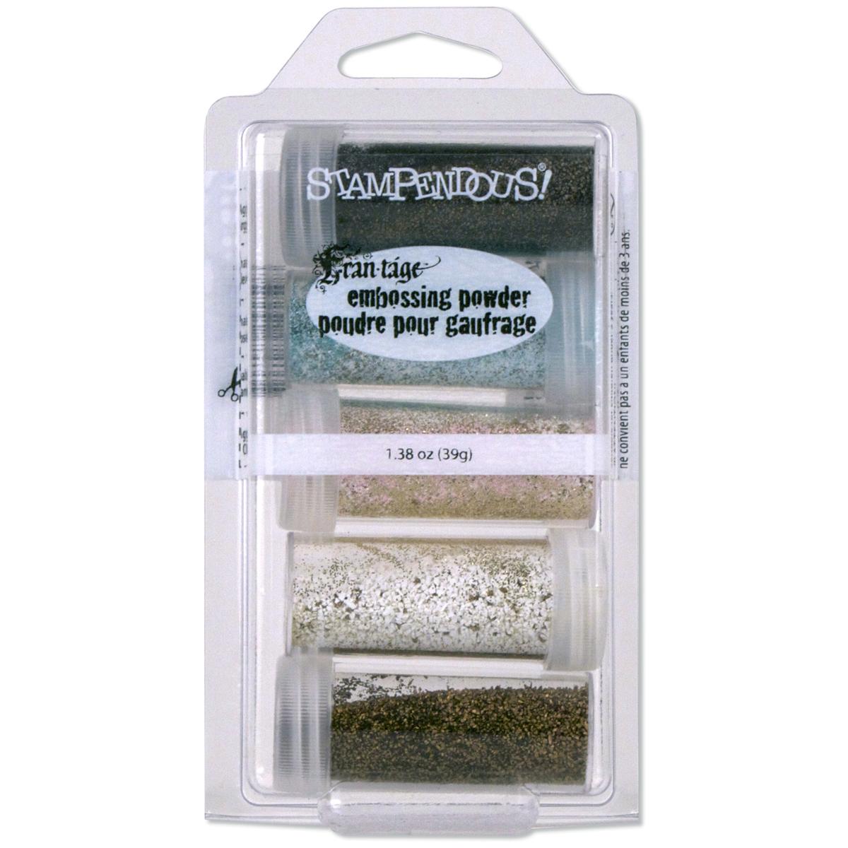 Vintage Embossing Powder 5/Pkg 1.8oz-Frantage