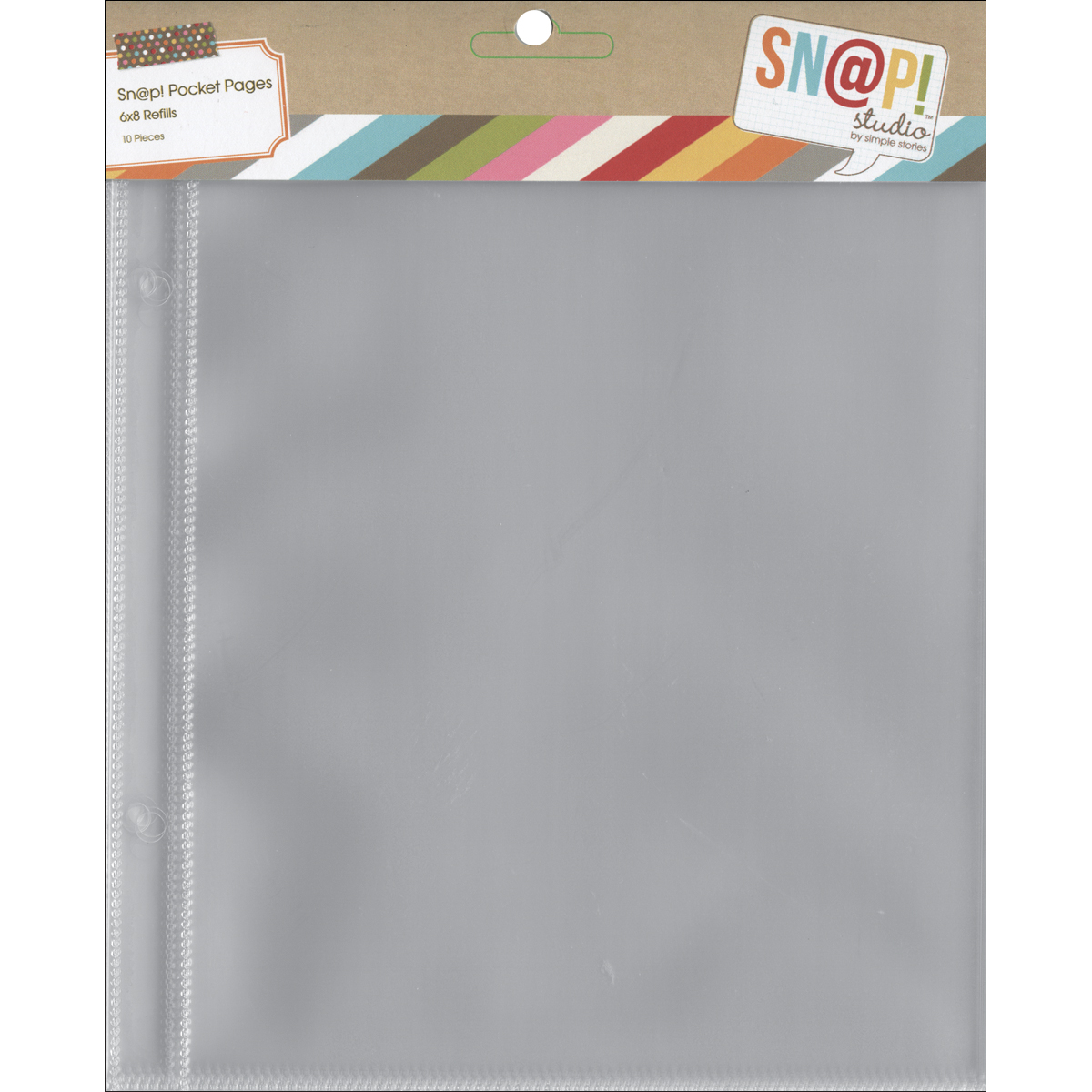 Simple Stories Sn@p! Pocket Pages For 6X8 Binders 10/Pkg-(1) 6X8 Pocket