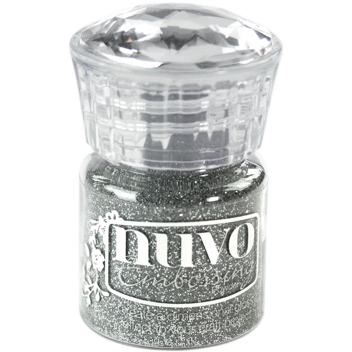 Nuvo Glitter Embossing Powder-Silver Moonlight