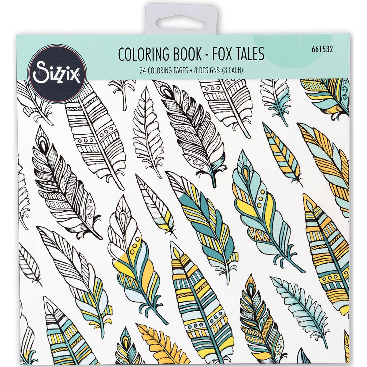 Sizzix Coloring Book-Fox Tales By Jen Long
