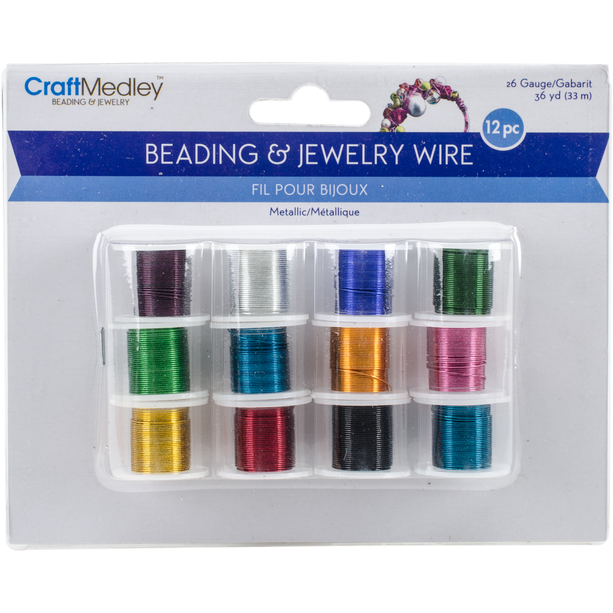 Beading & Jewelry Wire Assorted Colors 12pc