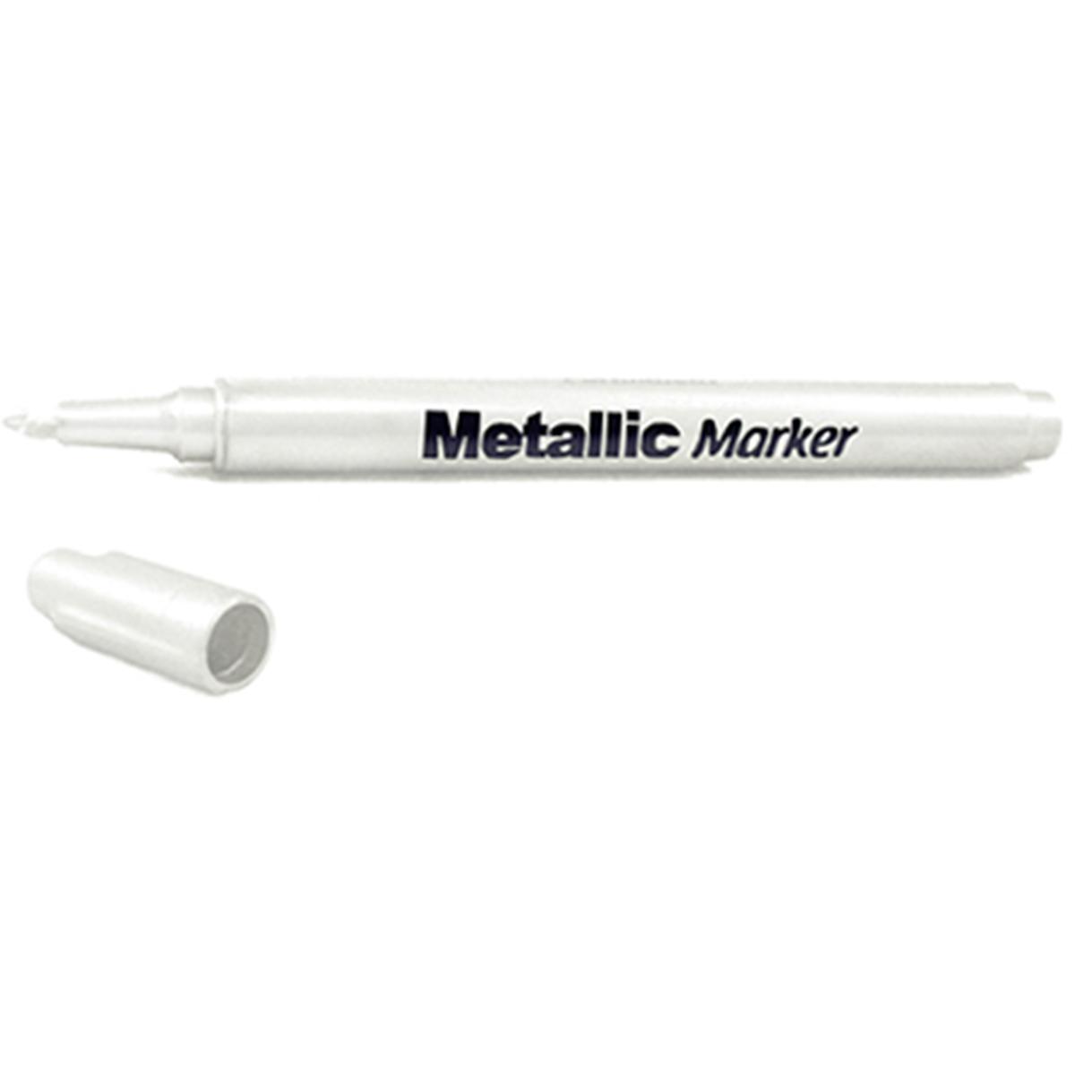 Metallic Permanent Marker 1.2mm Fine Point-White
