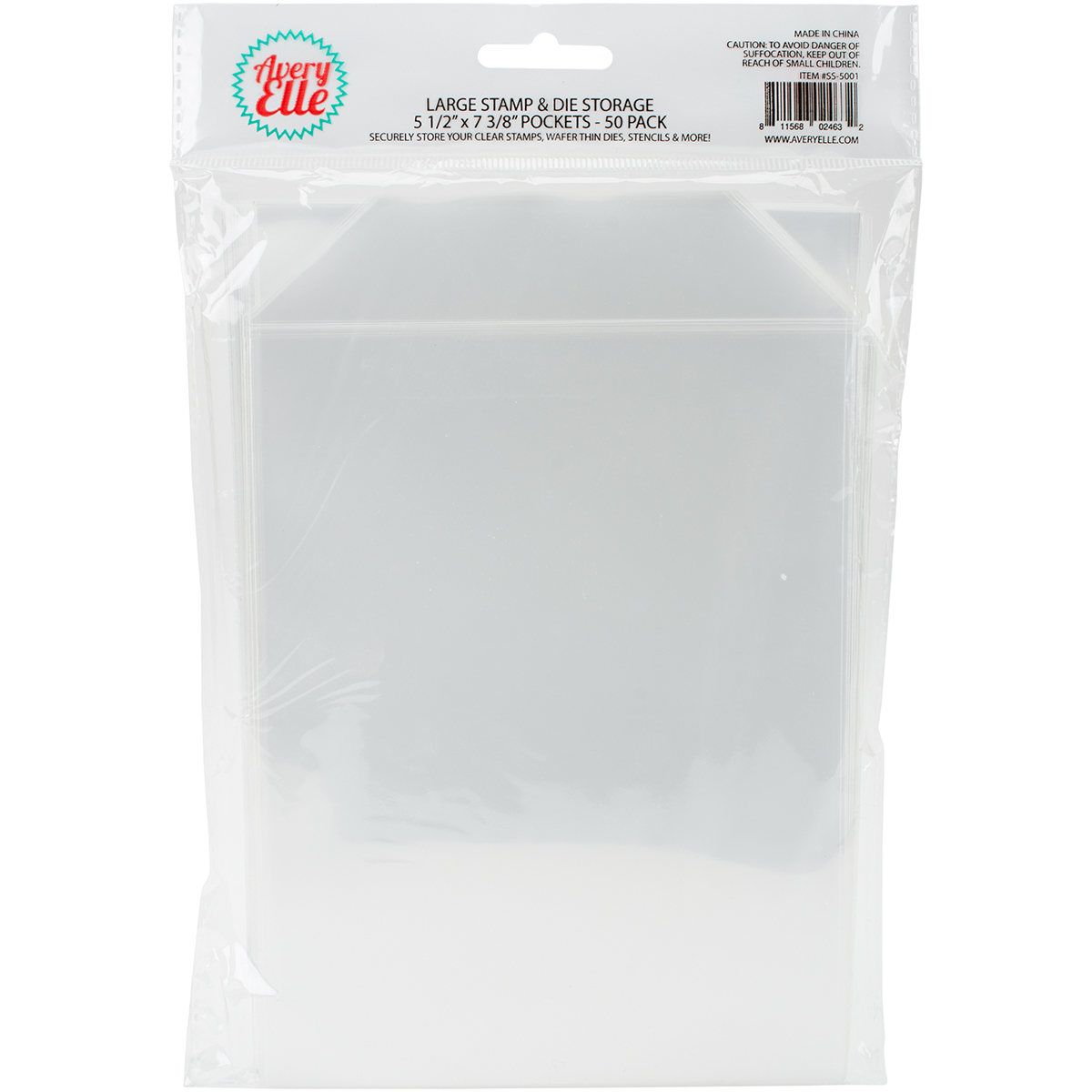 Avery Elle Stamp & Die Storage Pockets 50/Pkg-Large 5.5X7.375