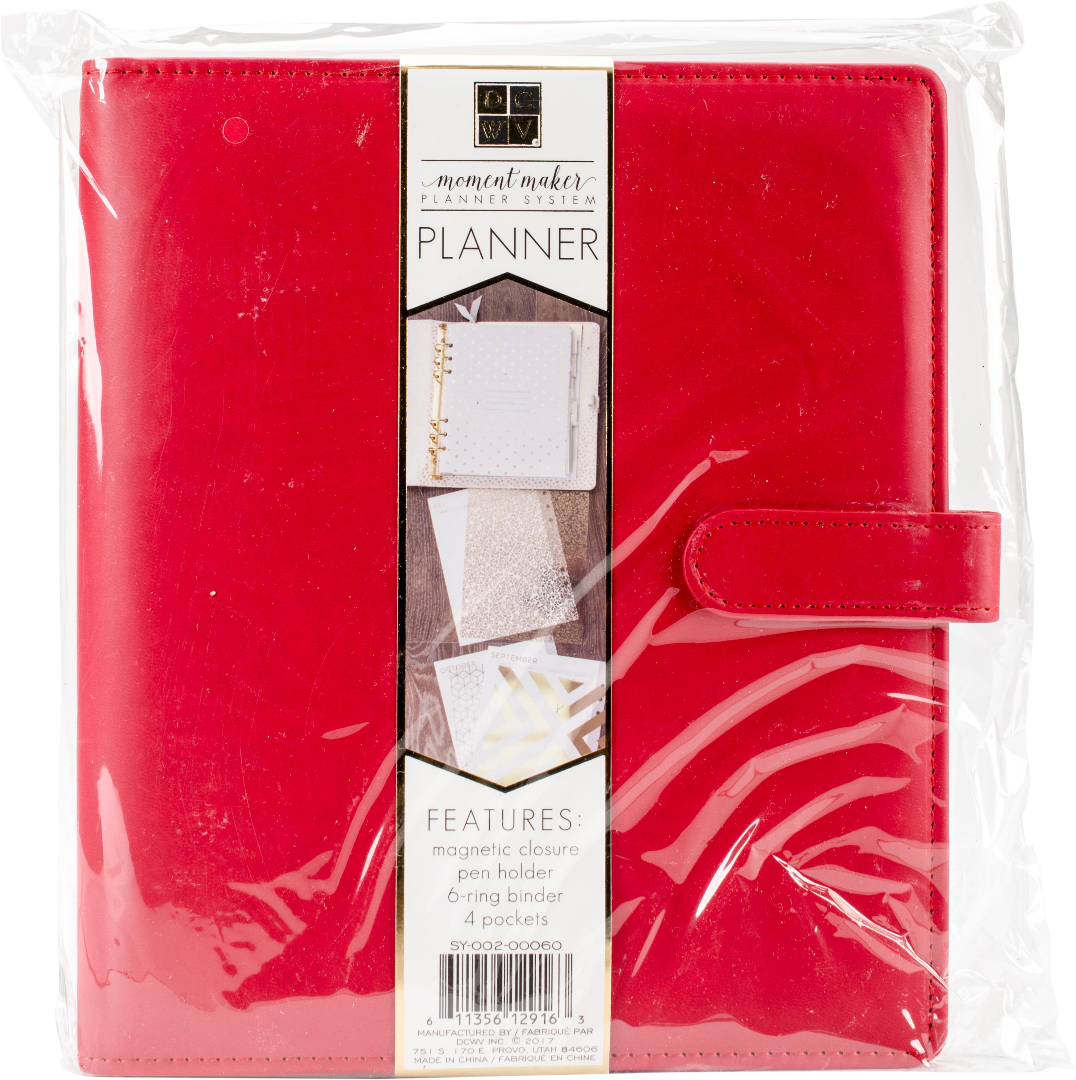DCWV Moment Maker Planner 6-Ring Binder 8.25X9.5-Red