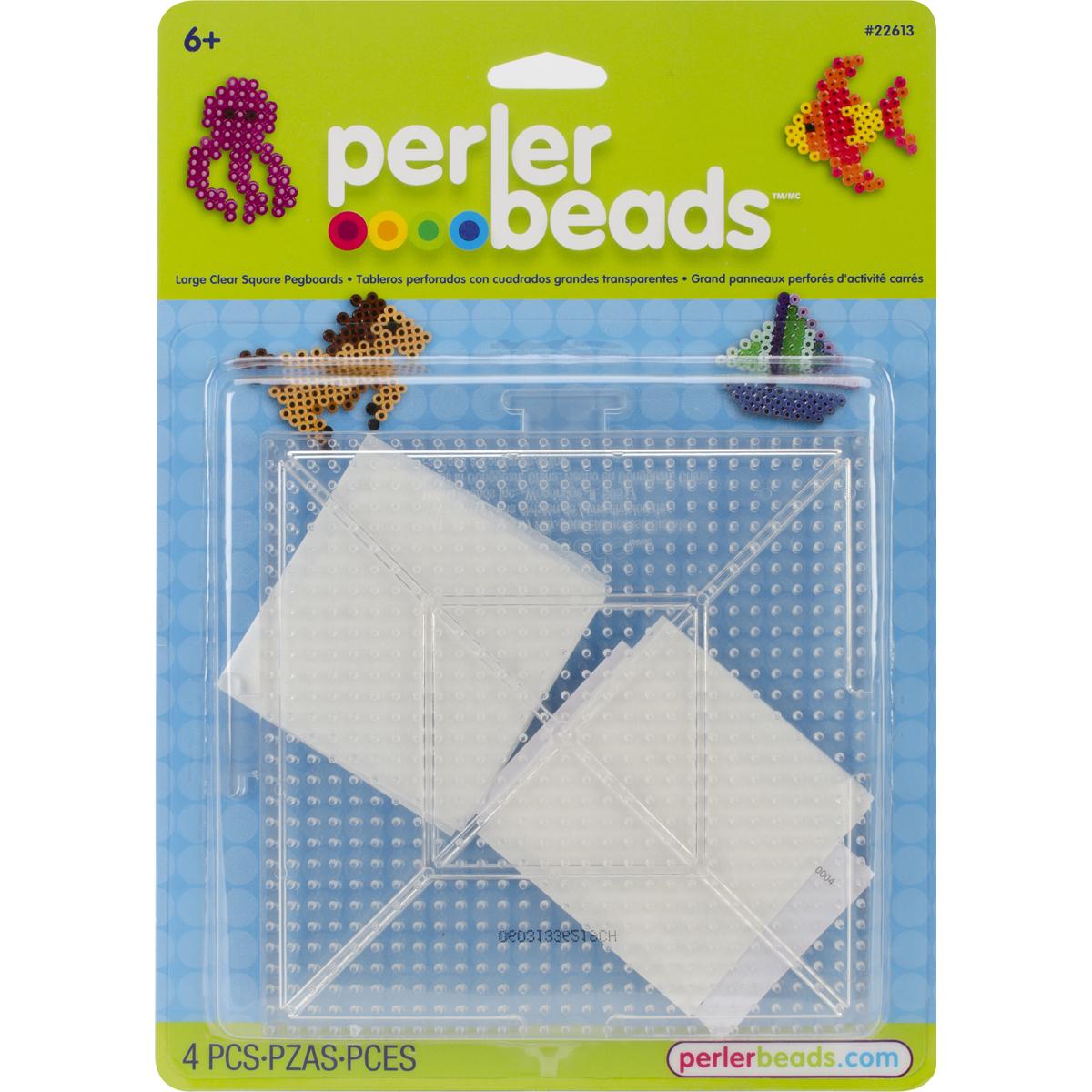 Perler Pegboards 2/Pkg-Large Square Clear