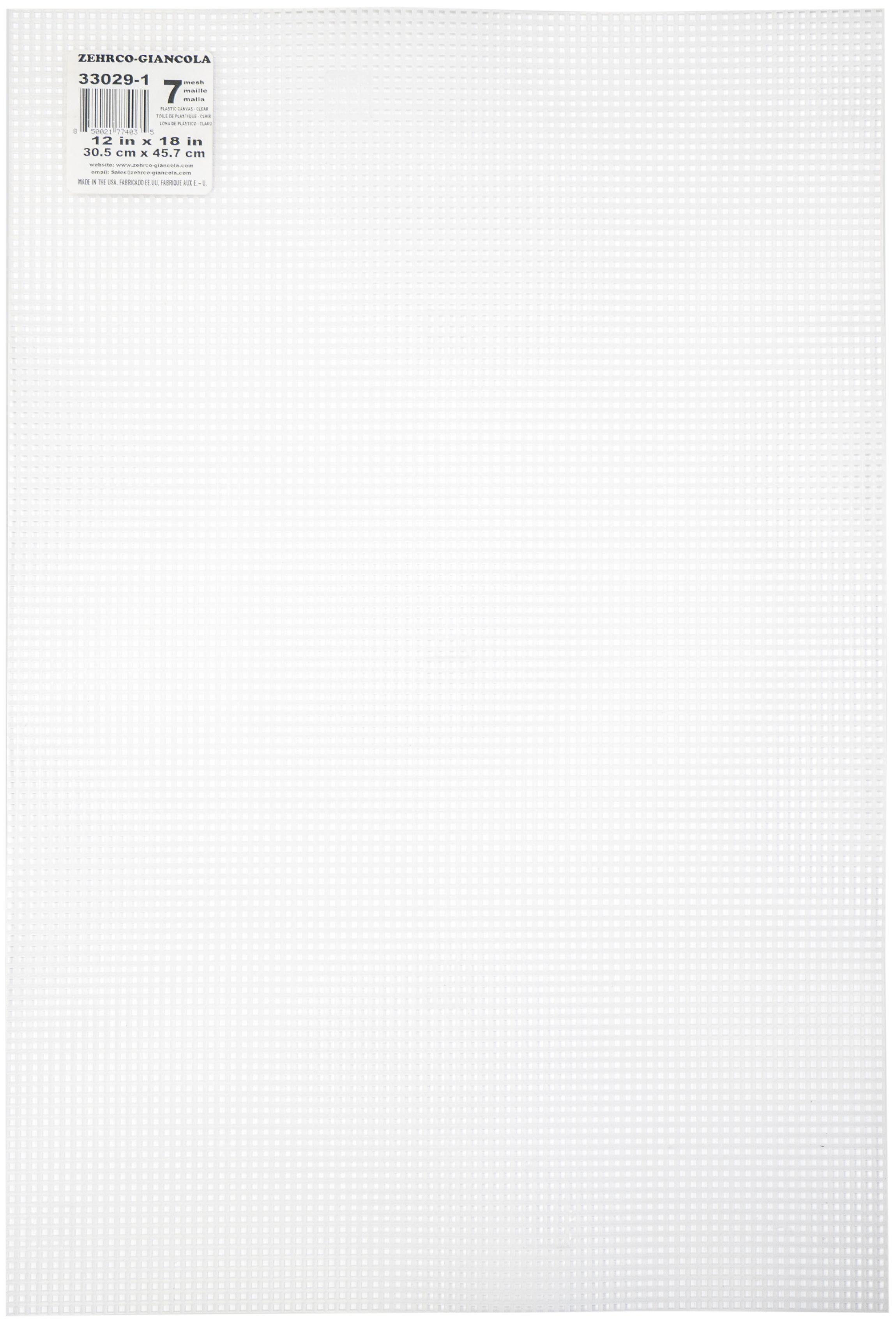 Darice Plastic Canvas 7 Count 12 X 18- Clear
