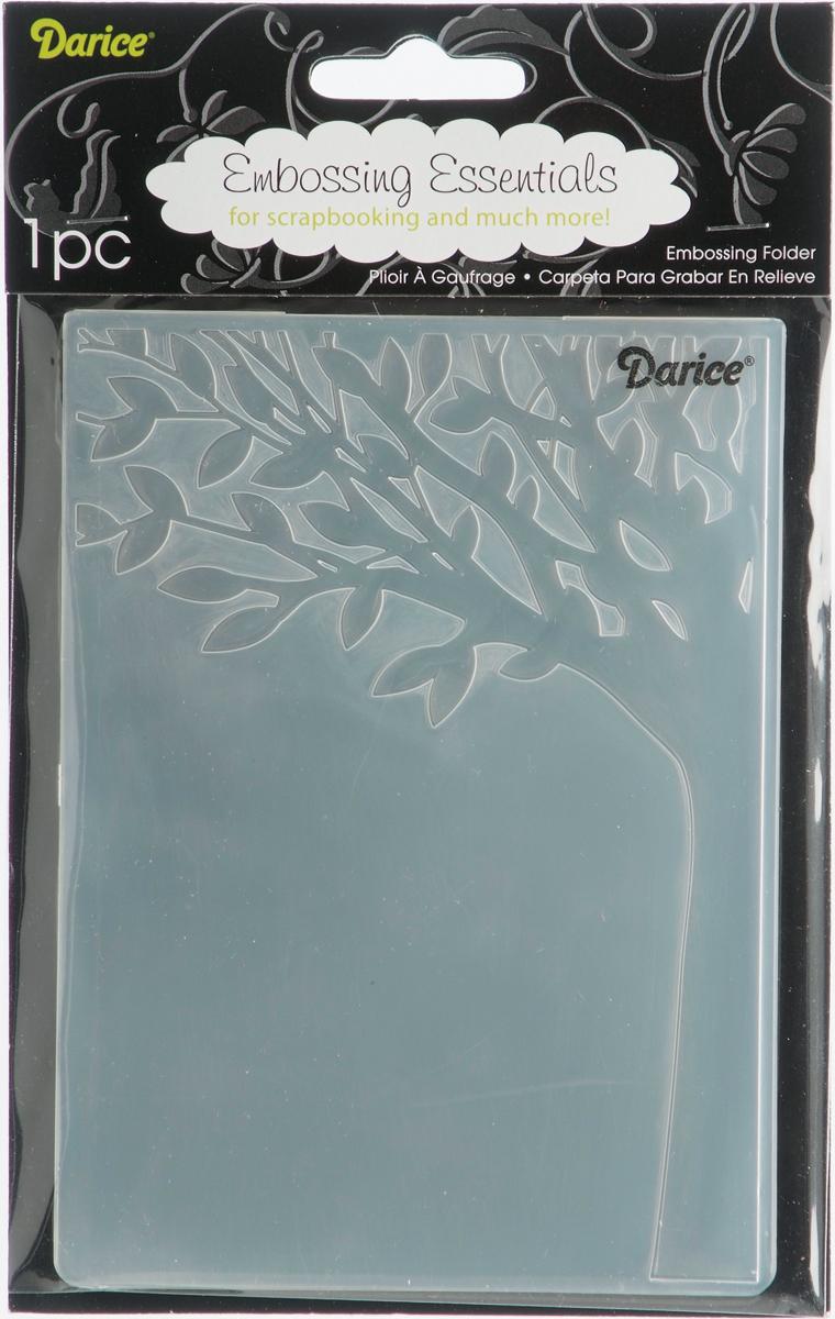 Embossing Folder 4.25X5.75-Leafy Tree Trunk