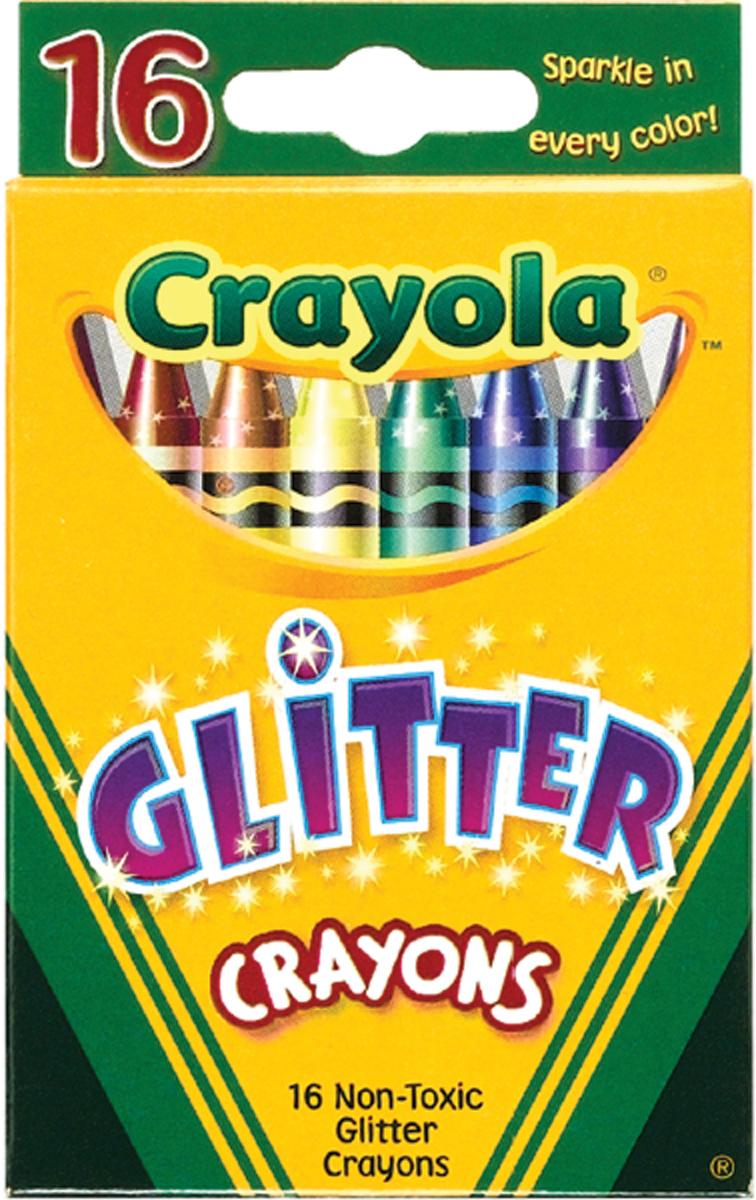 CRAYONS GLITTER 16/P