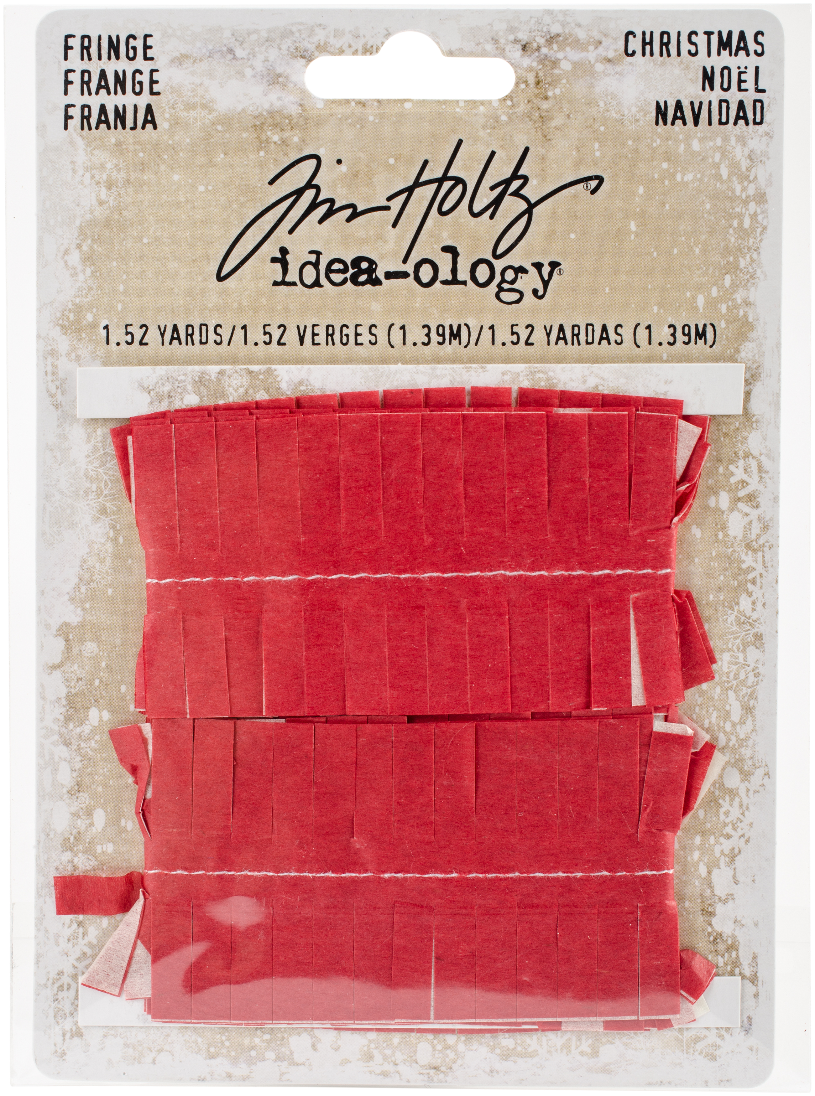 Idea-Ology Tissue Fringe 1.5yd-Christmas