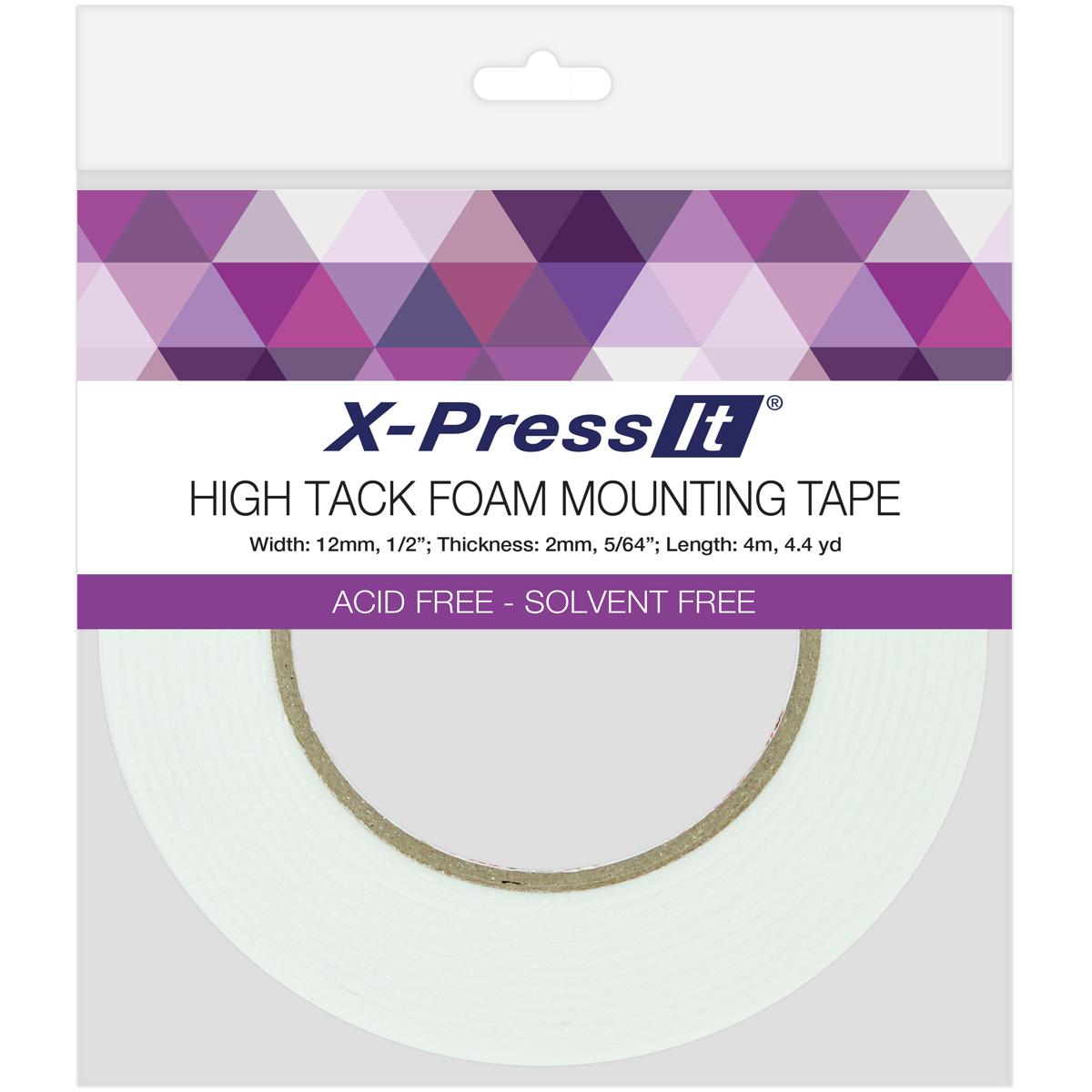 X-Press It High Tack Foam Mounting Tape-.5X4.4yd