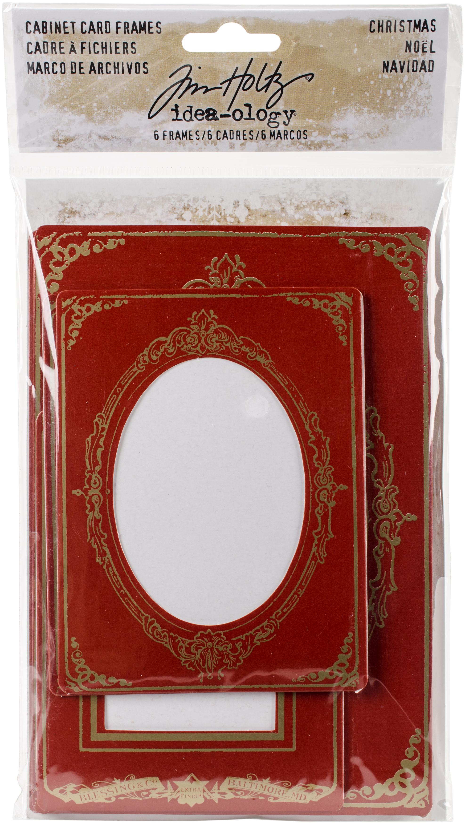 Idea-Ology Cabinet Card Frames 6/Pkg-Christmas