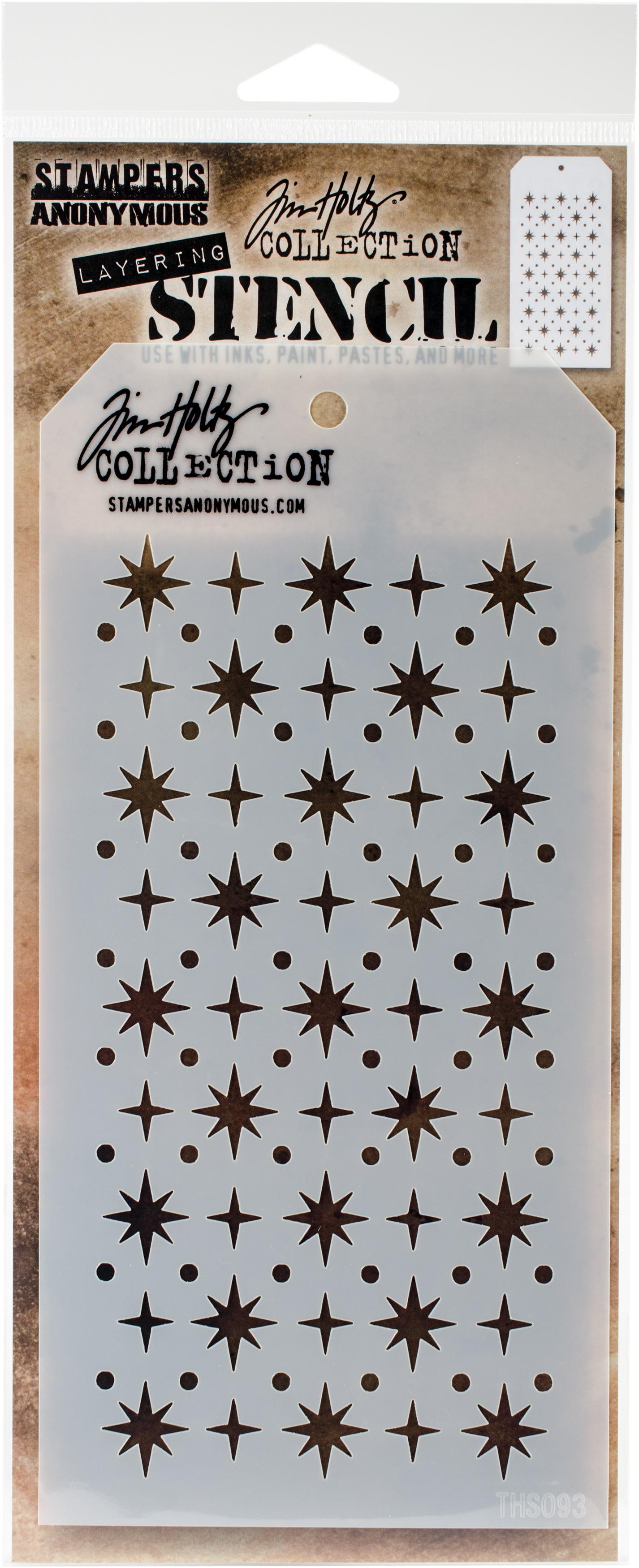 Tim Holtz Layered Stencil 4.125X8.5-Starry