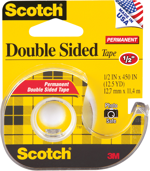 3M #137 Double Stick Tape 1/2X12.5YD Box