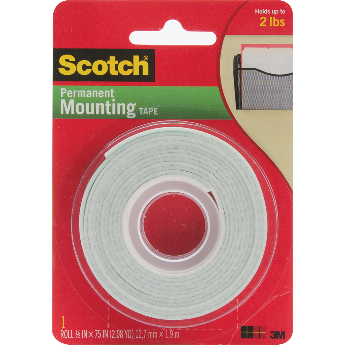 Scotch Foam Mounting Tape-.5X75