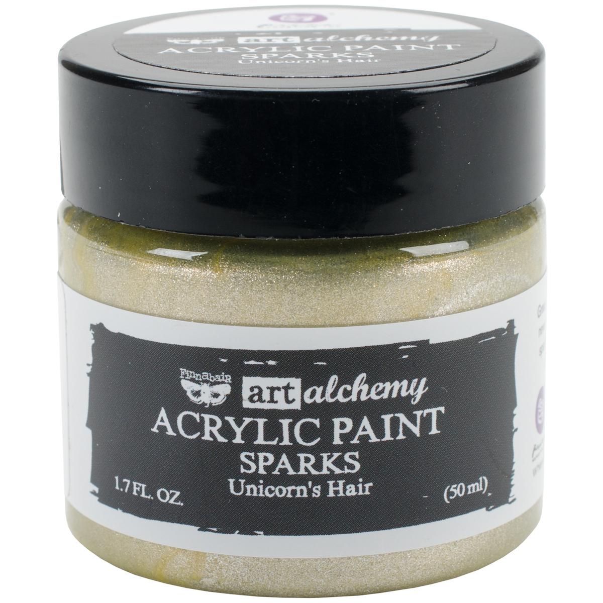 Finnabair Art Alchemy Sparks Acrylic Paint 1.7 Fluid Ounces-Unicorn's Hair
