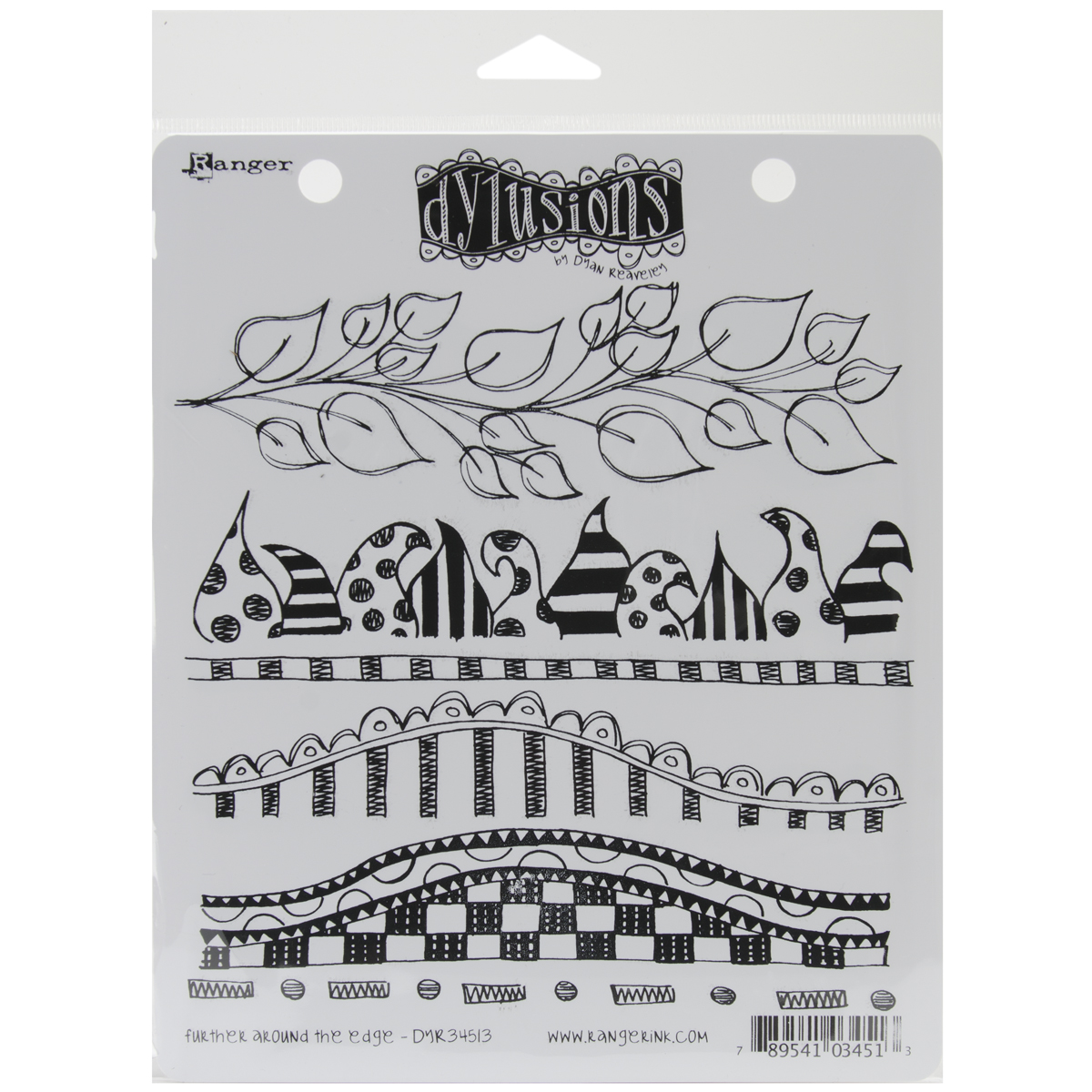 Dyan Reaveley's Dylusions Cling Stamp Collections 8.5X7-Further Around The Edg...