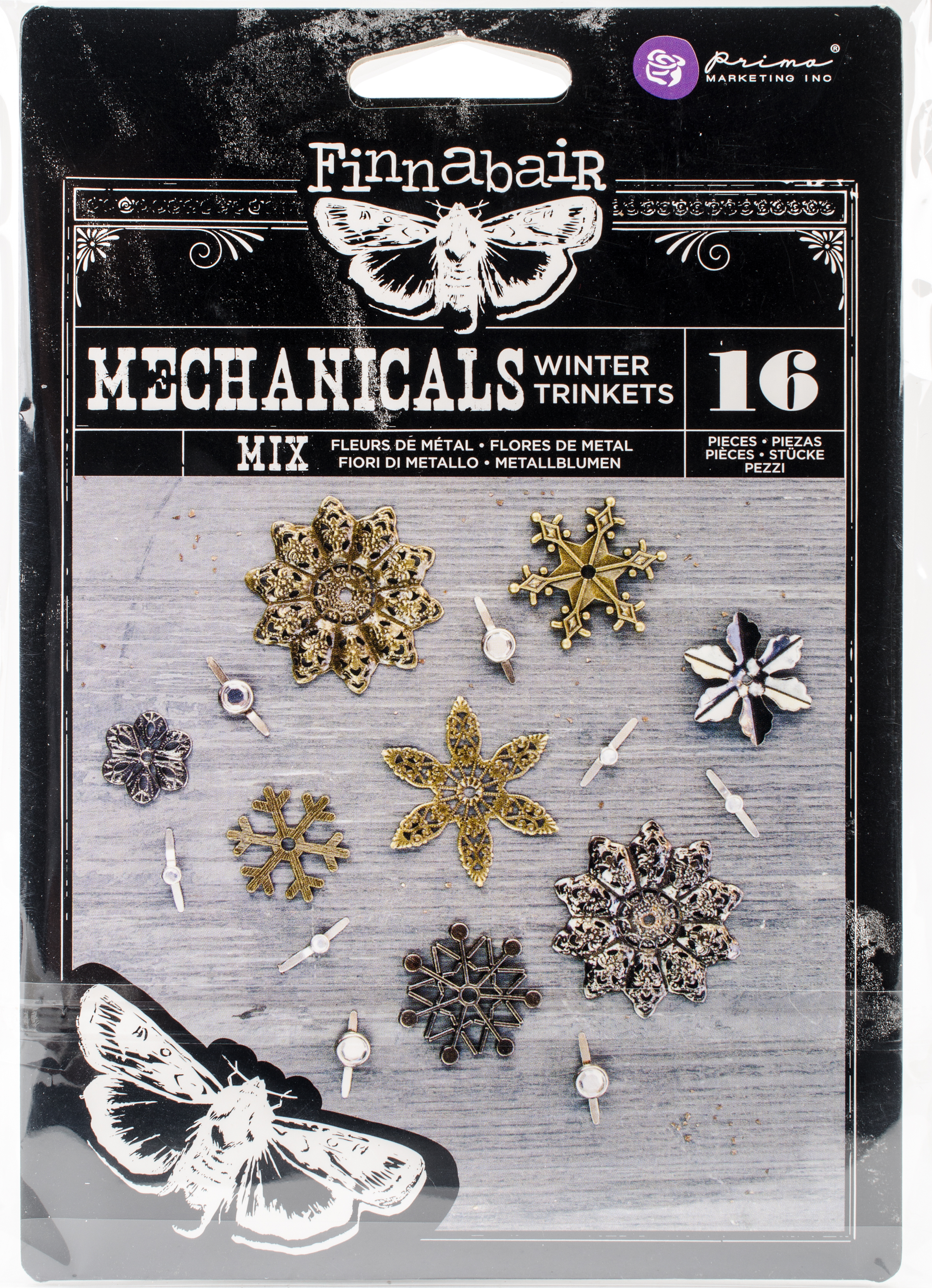 Finnabair Mechanicals Metal Embellishments-Winter Trinkets