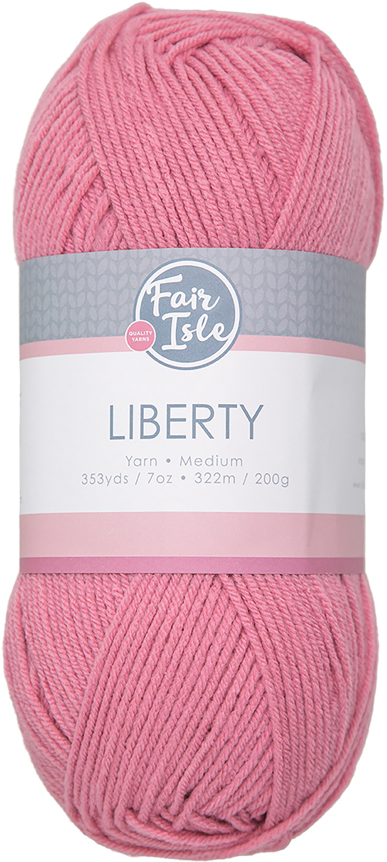 Fair Isle Liberty 200g Yarn-Rose