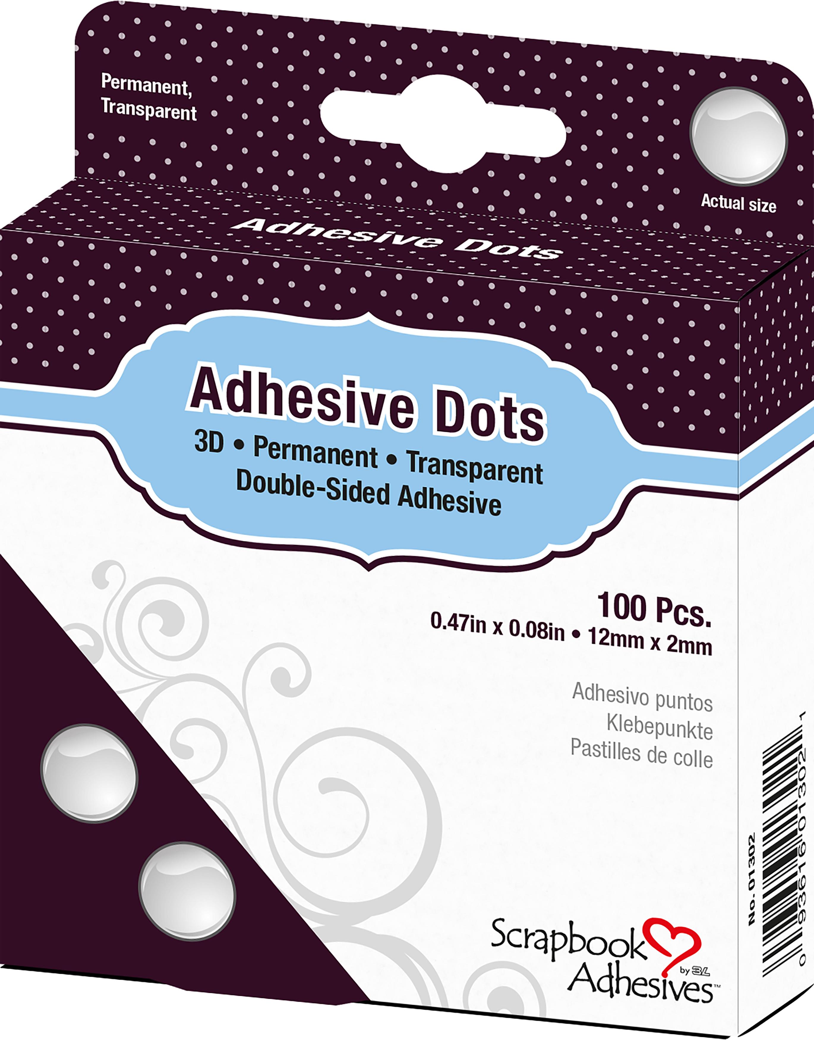 Dodz Adhesive Dot Roll-3D .0625X.5 100/Pkg
