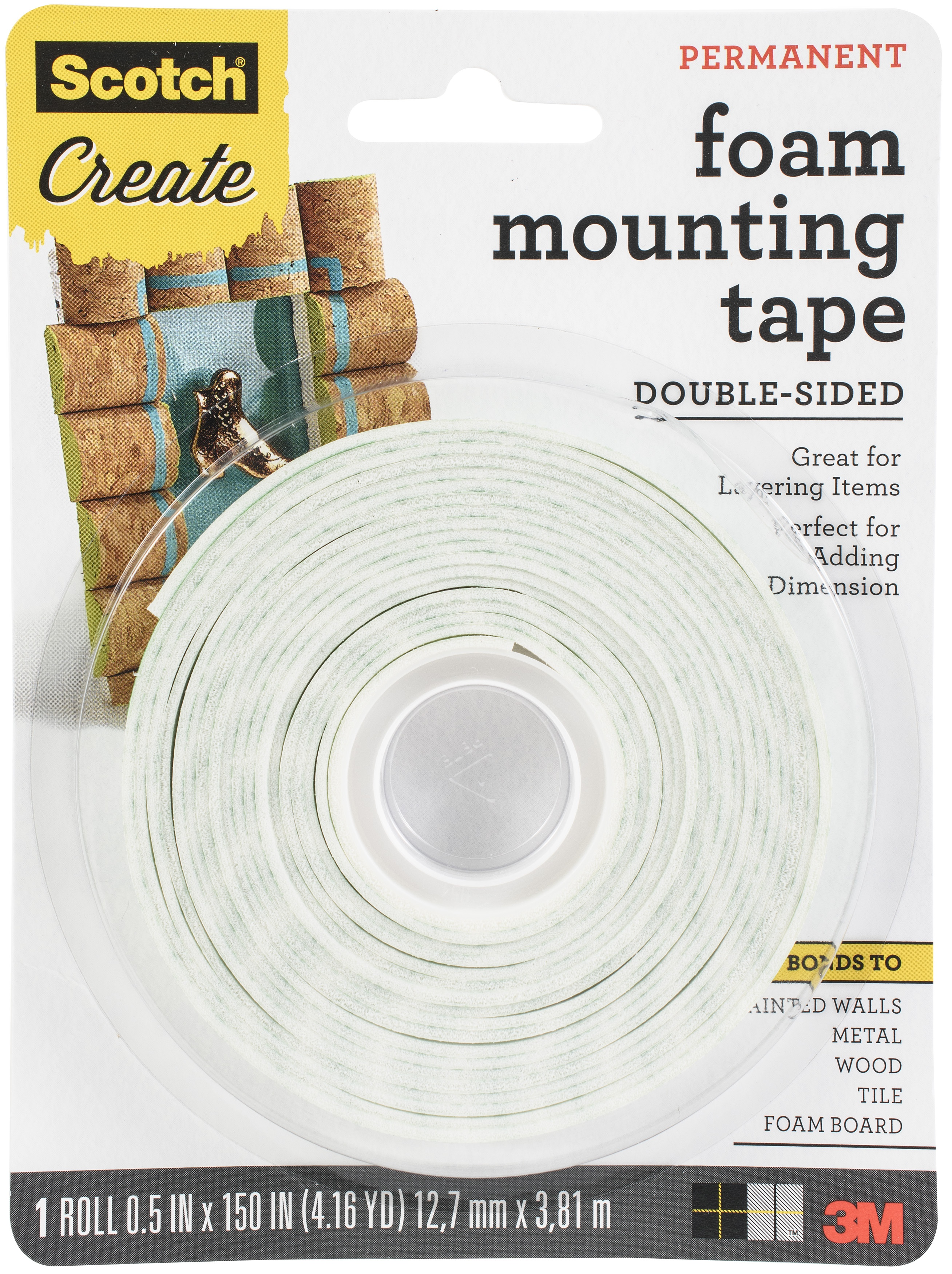 Scotch Foam Mounting Tape-.5X150