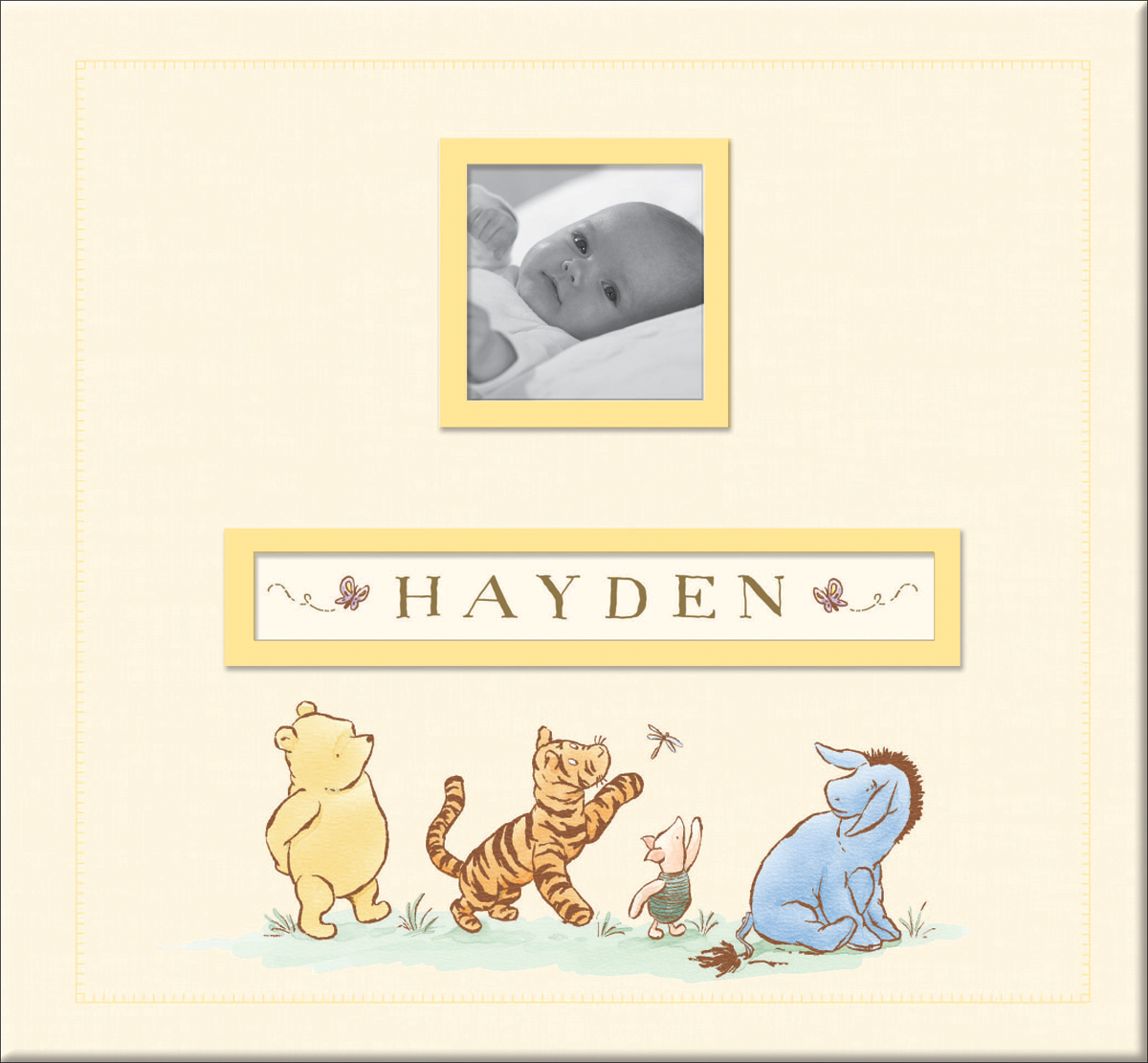 EK Success Disney Frame-A-Name Post Bound Album 12X12-Classic Pooh