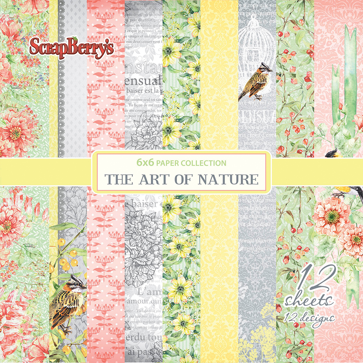 ScrapBerry's The Art Of Nature Paper Pack 6X6 12/Pkg-12 Single-Sided Designs/1...